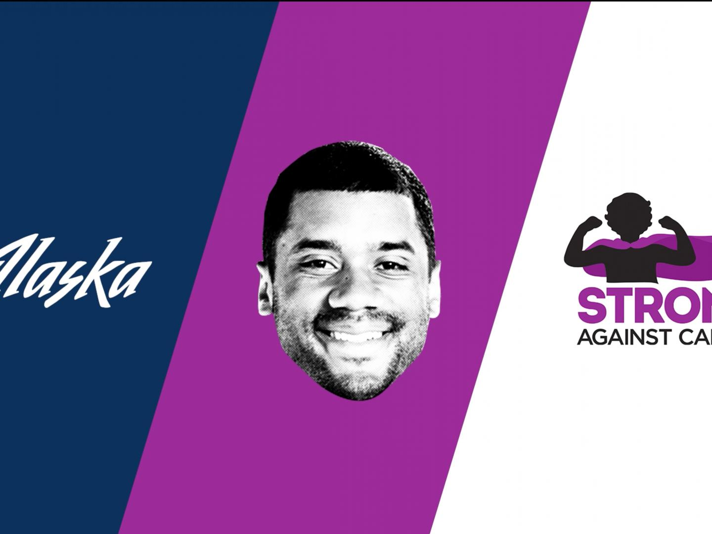 Alaska Airlines & Russell Wilson Strong Against Cancer Plane Pull Thumbnail
