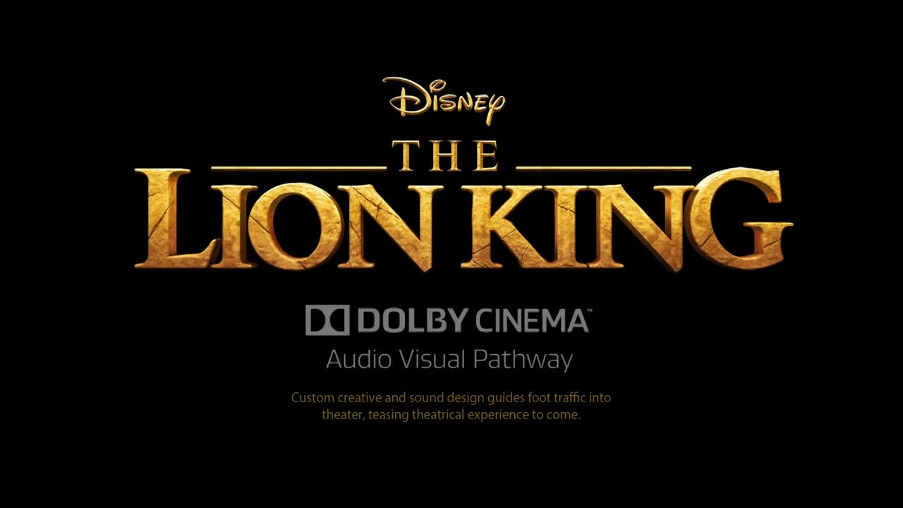 Thumbnail for The Lion King - Dolby Theater Audio Visual Pathway