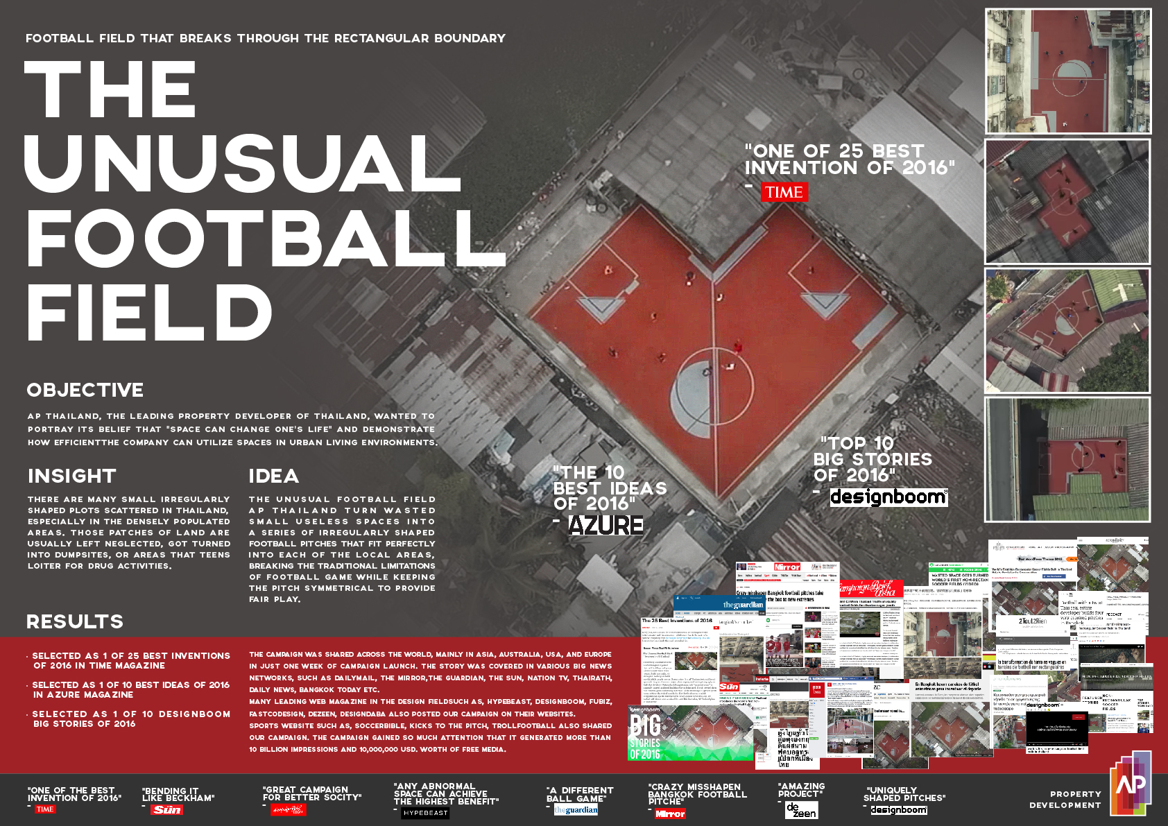 Image Media for The Unusual Football Field Project