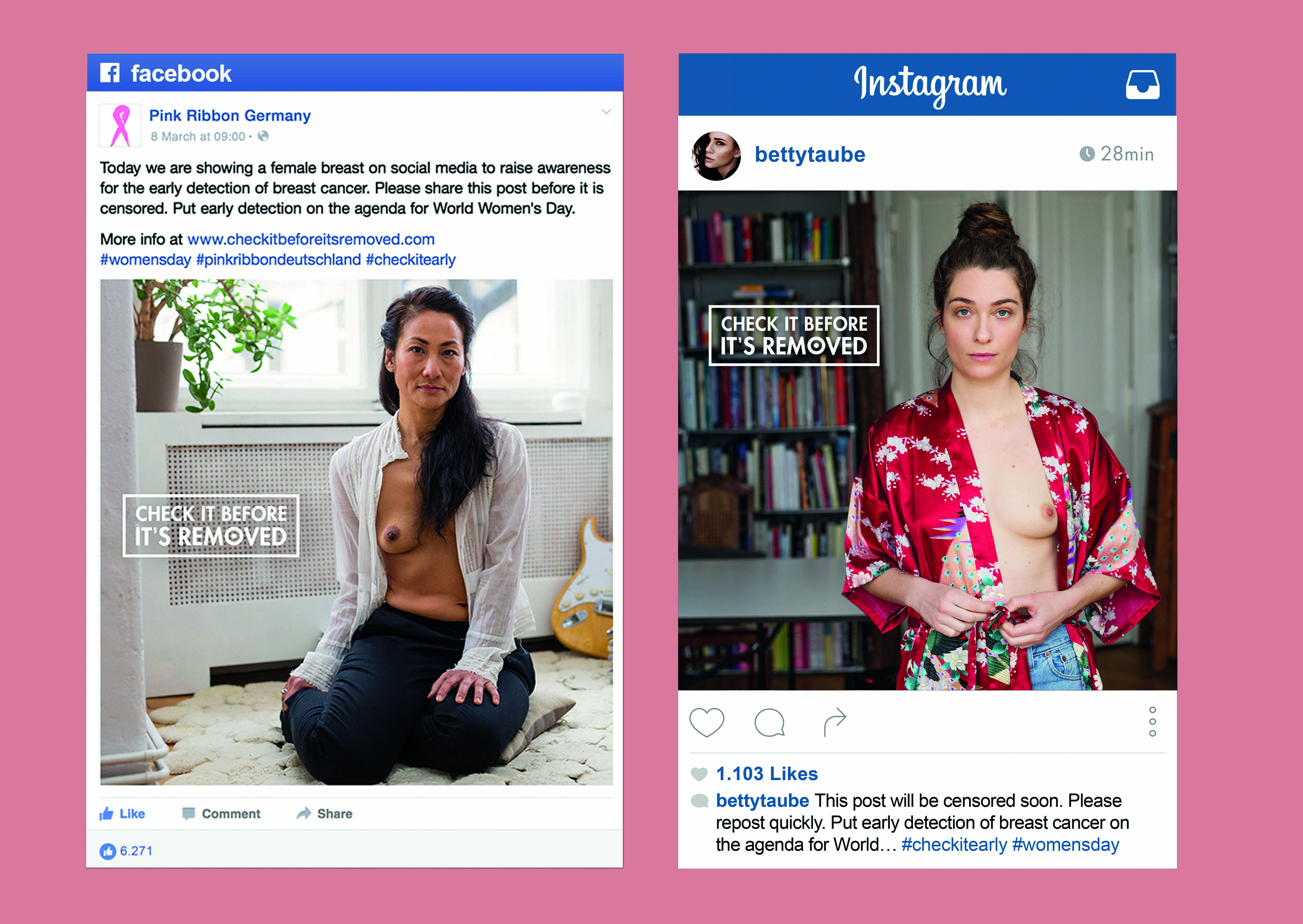 Thumbnail for Check It Before It's Removed: Naked Breasts On Facebook Against Breast Cancer