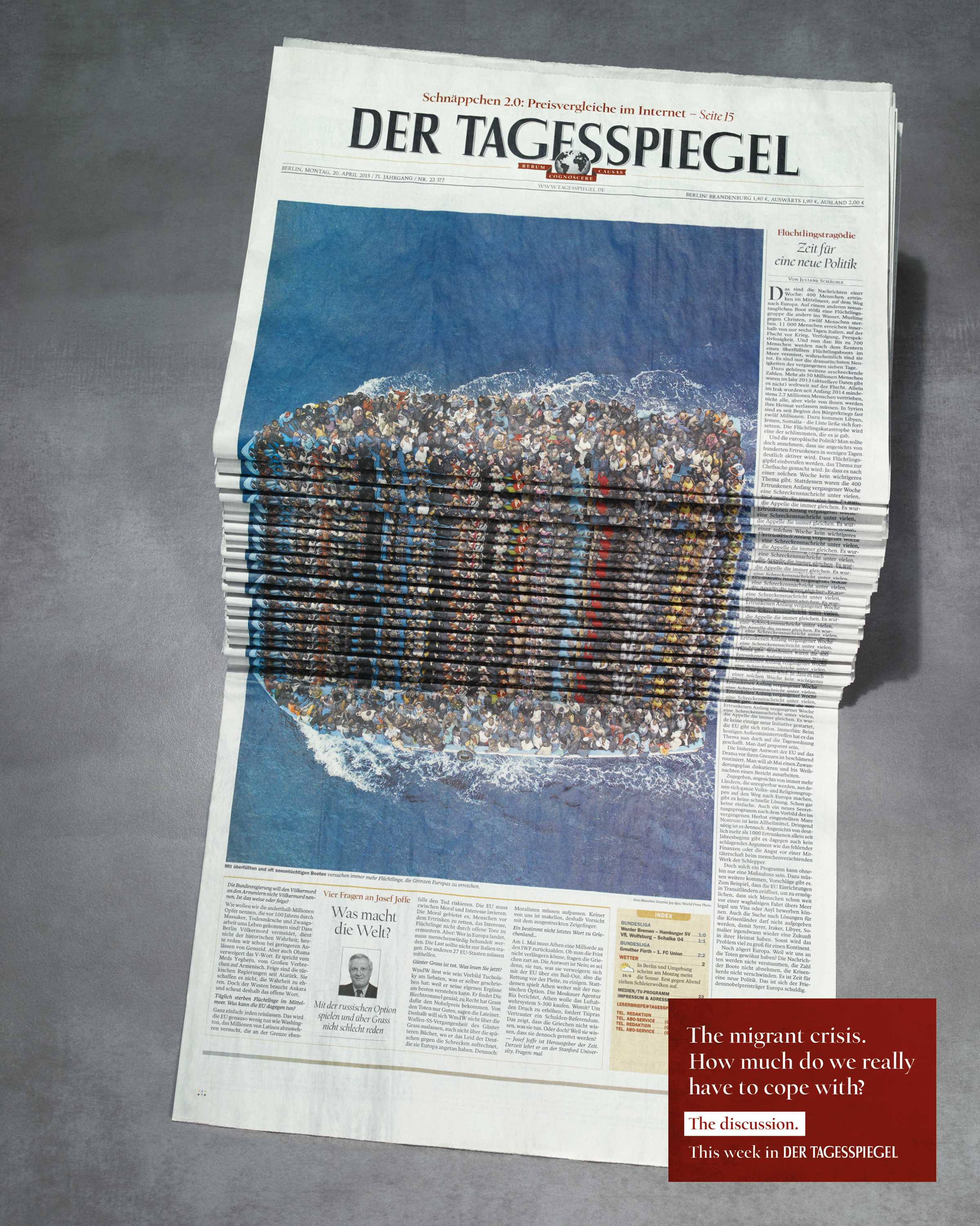 Image for Newspaper Stack - Refugees