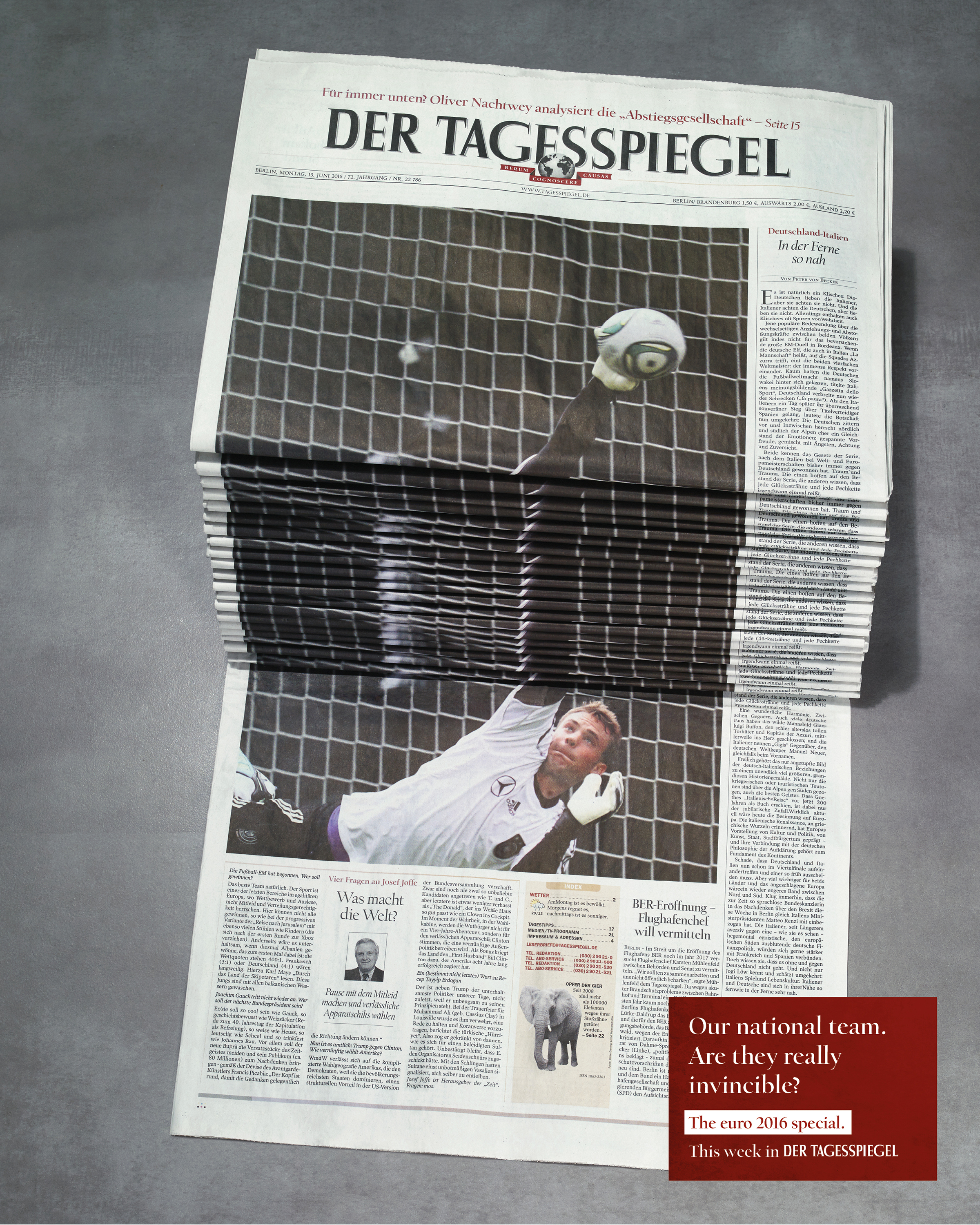 Image Media for Newspaper Stack - Soccer