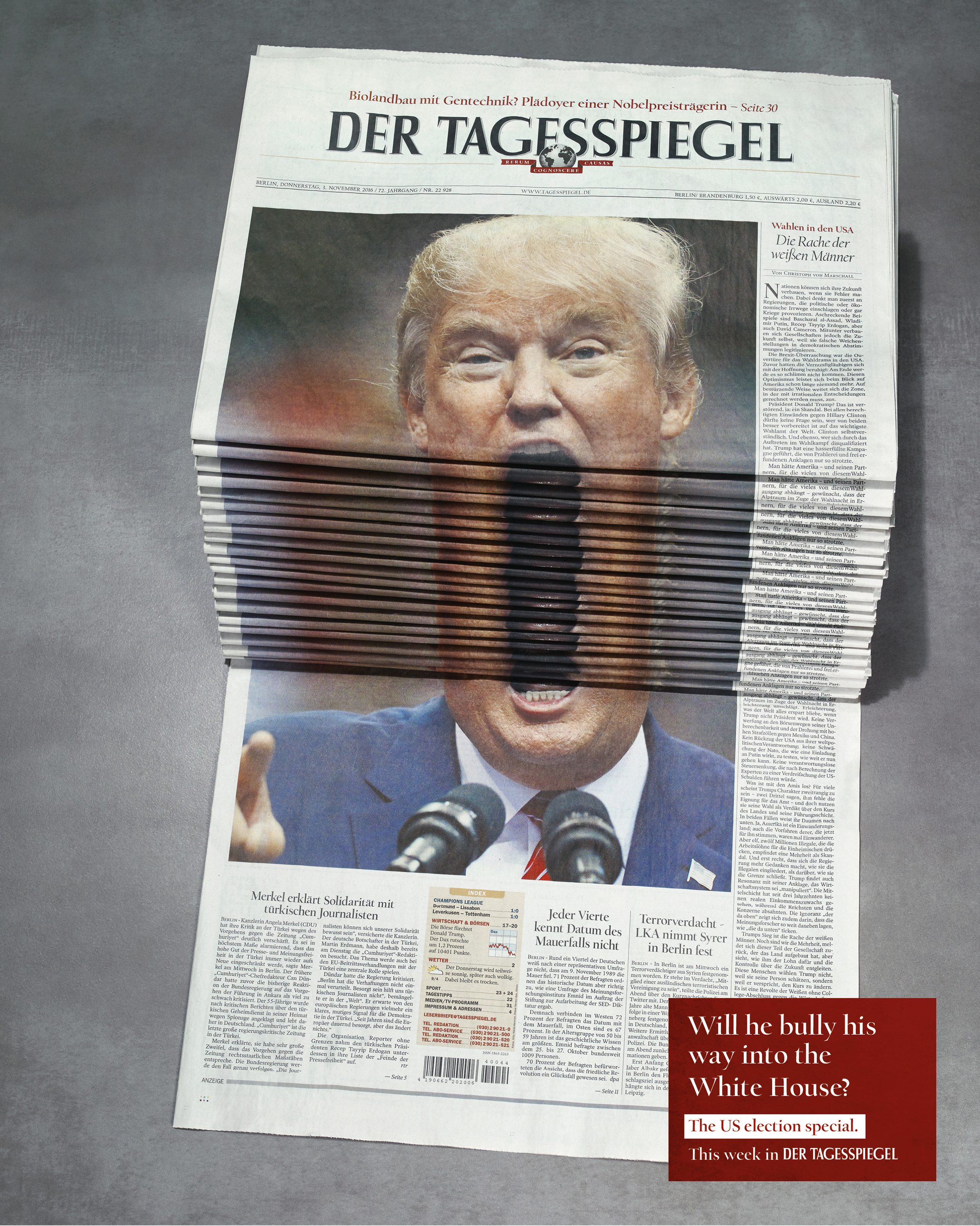 Image for Newspaper Stack - Trump