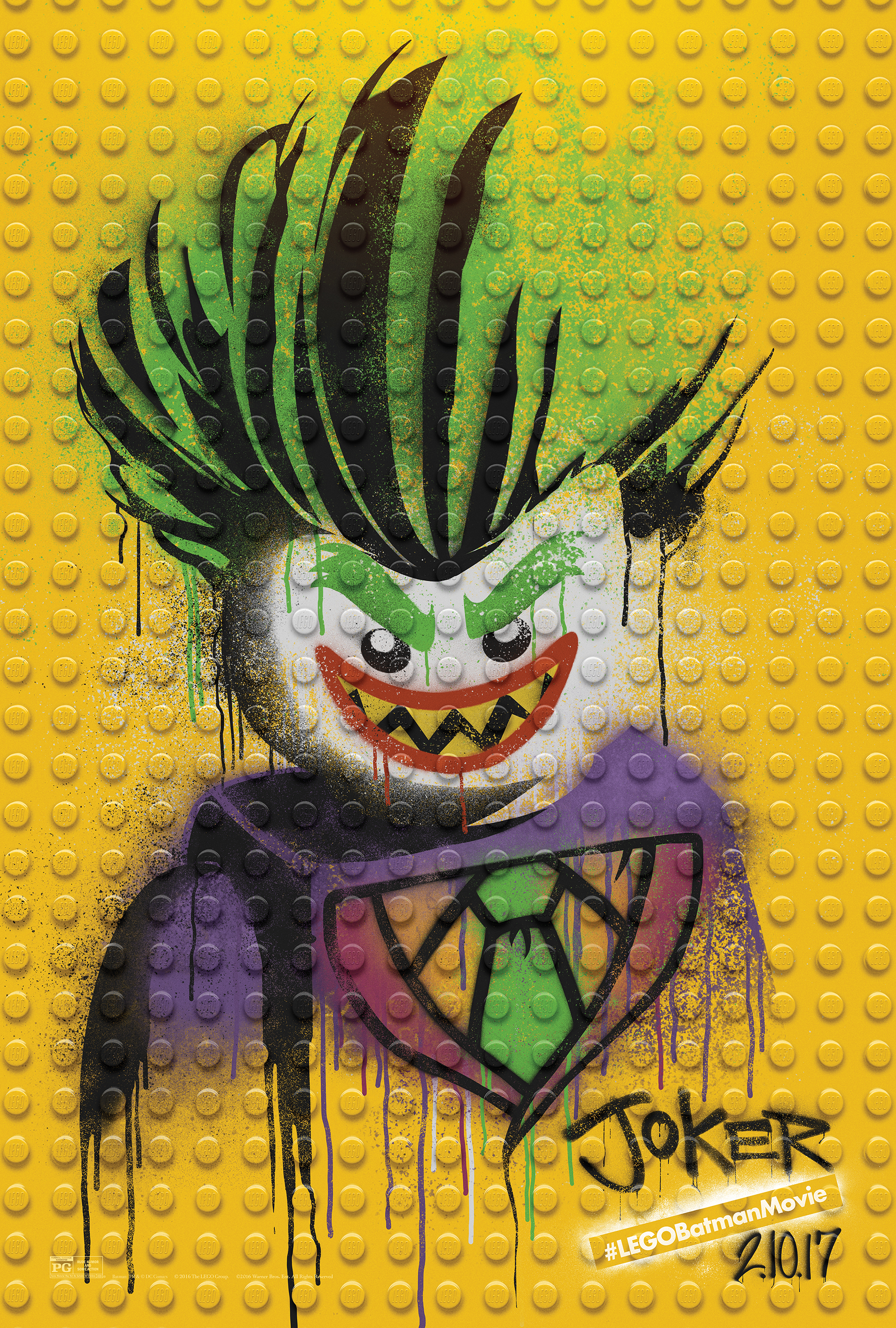 Image for The LEGO Batman Movie - Graffiti Wild Postings | The Joker