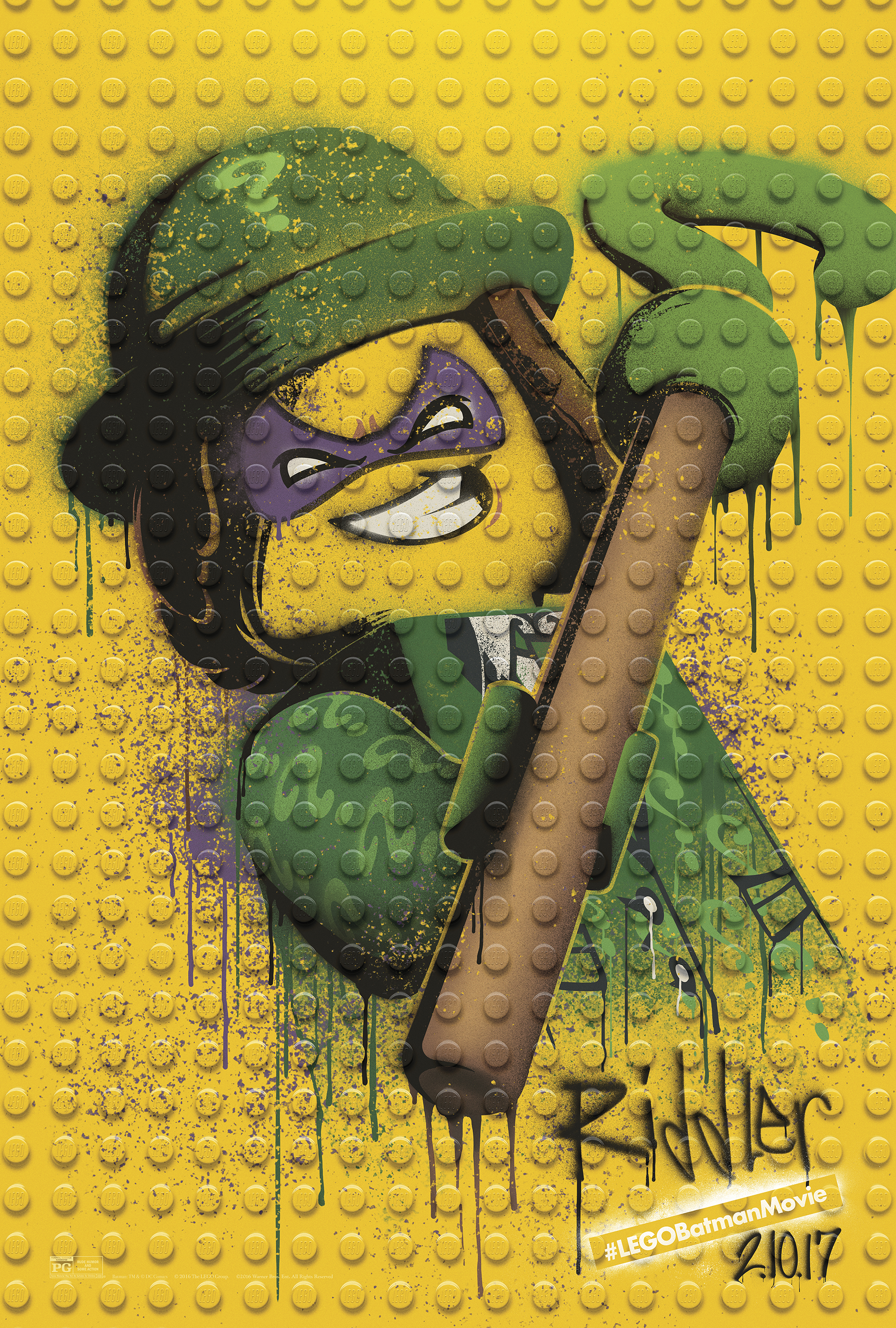 The LEGO Batman Movie - Graffiti Wild Postings | Riddler Thumbnail