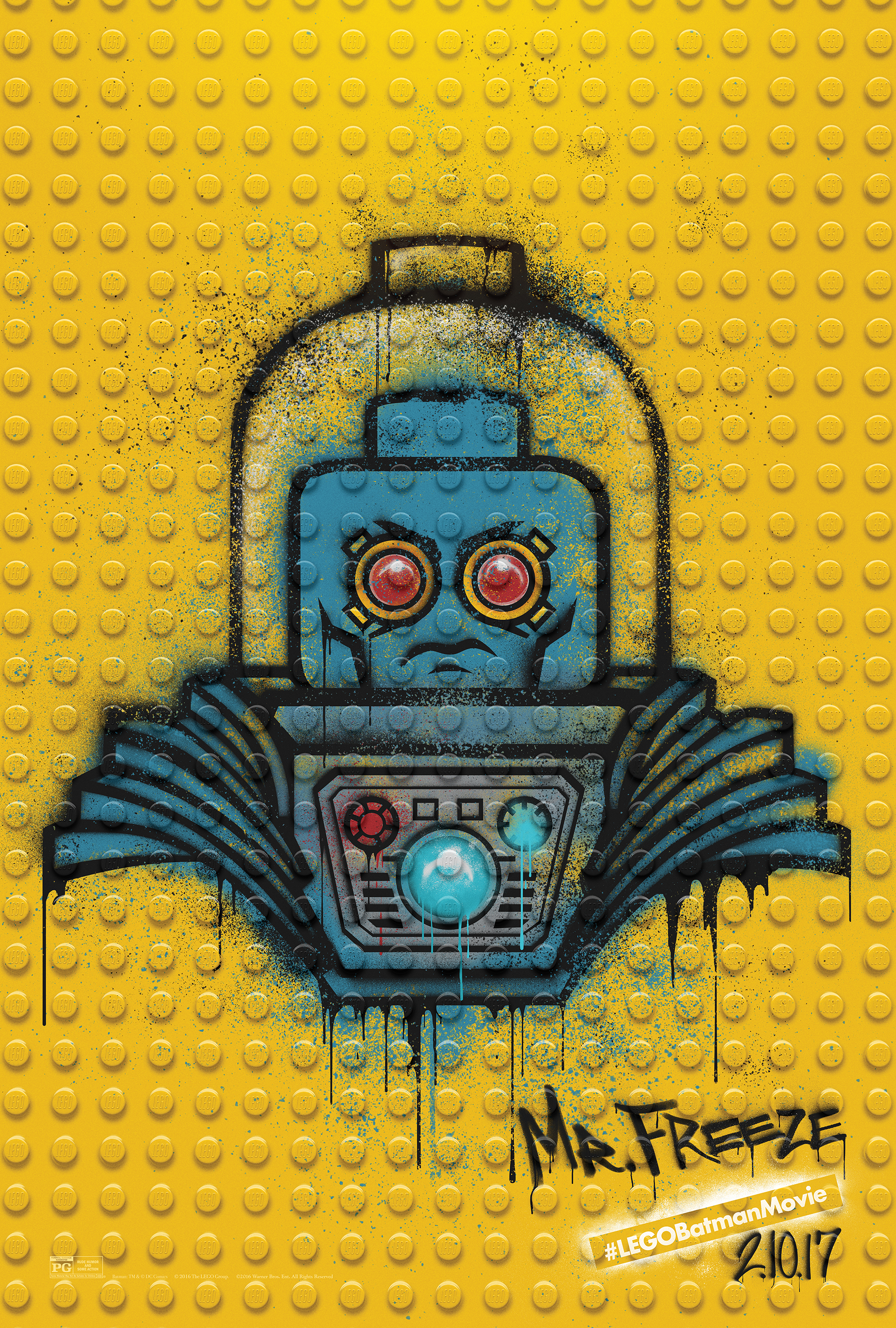 Image for The LEGO Batman Movie - Graffiti Wild Postings | Mr Freeze