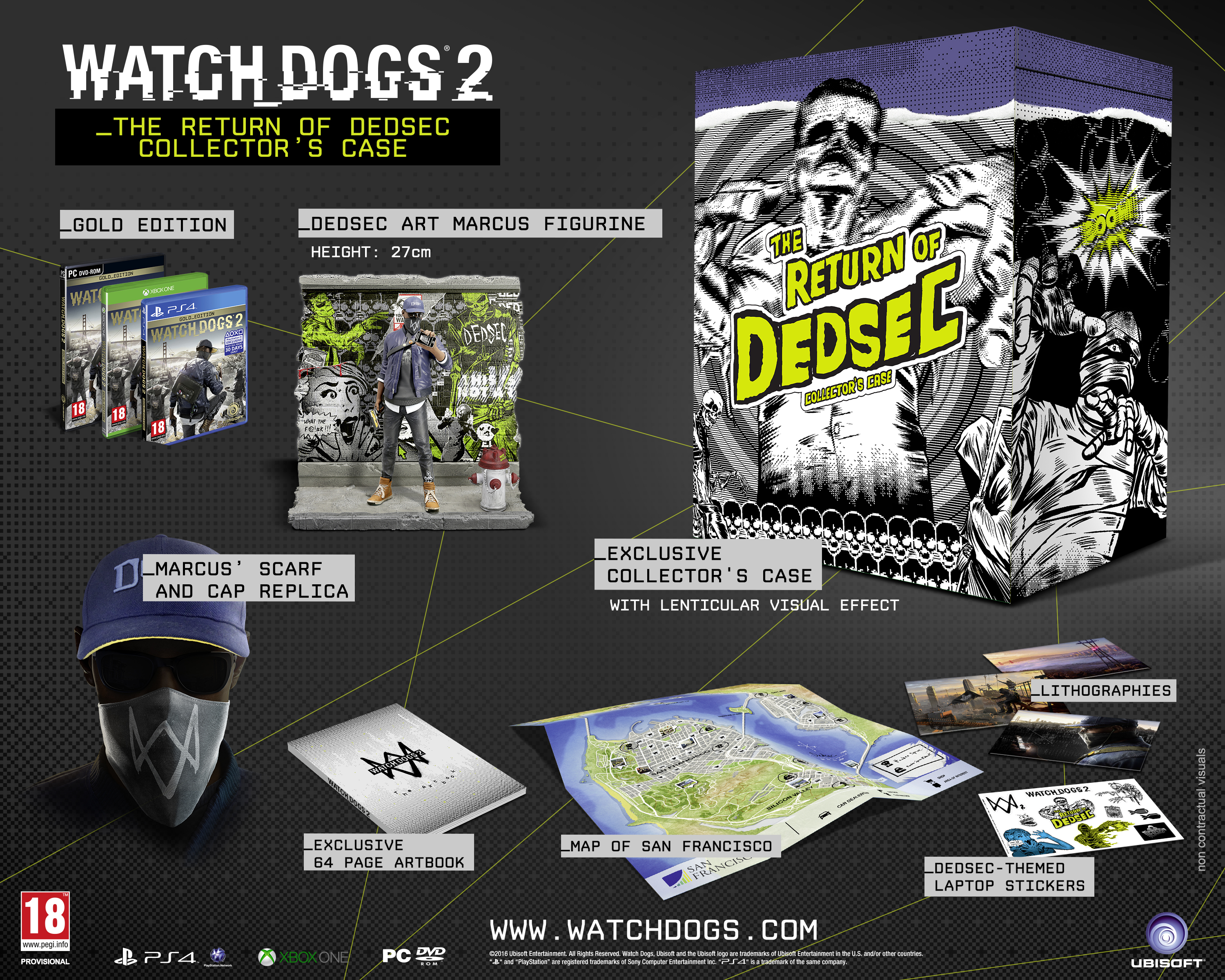 Watch Dogs 2 - The Return Of Dedsec COLLECTOR'S CASE Thumbnail