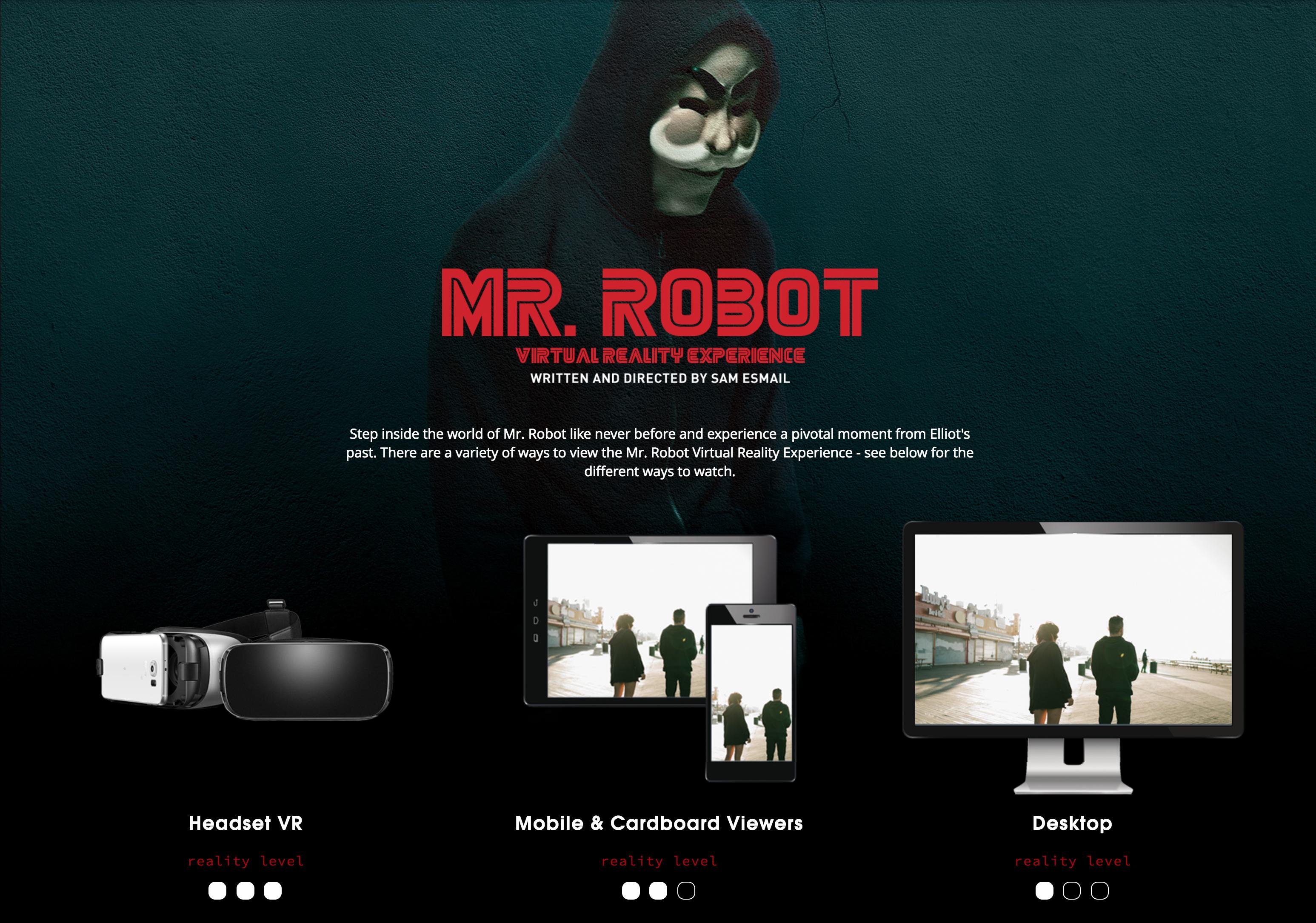 The Mr. Robot Virtual Reality Experience Thumbnail