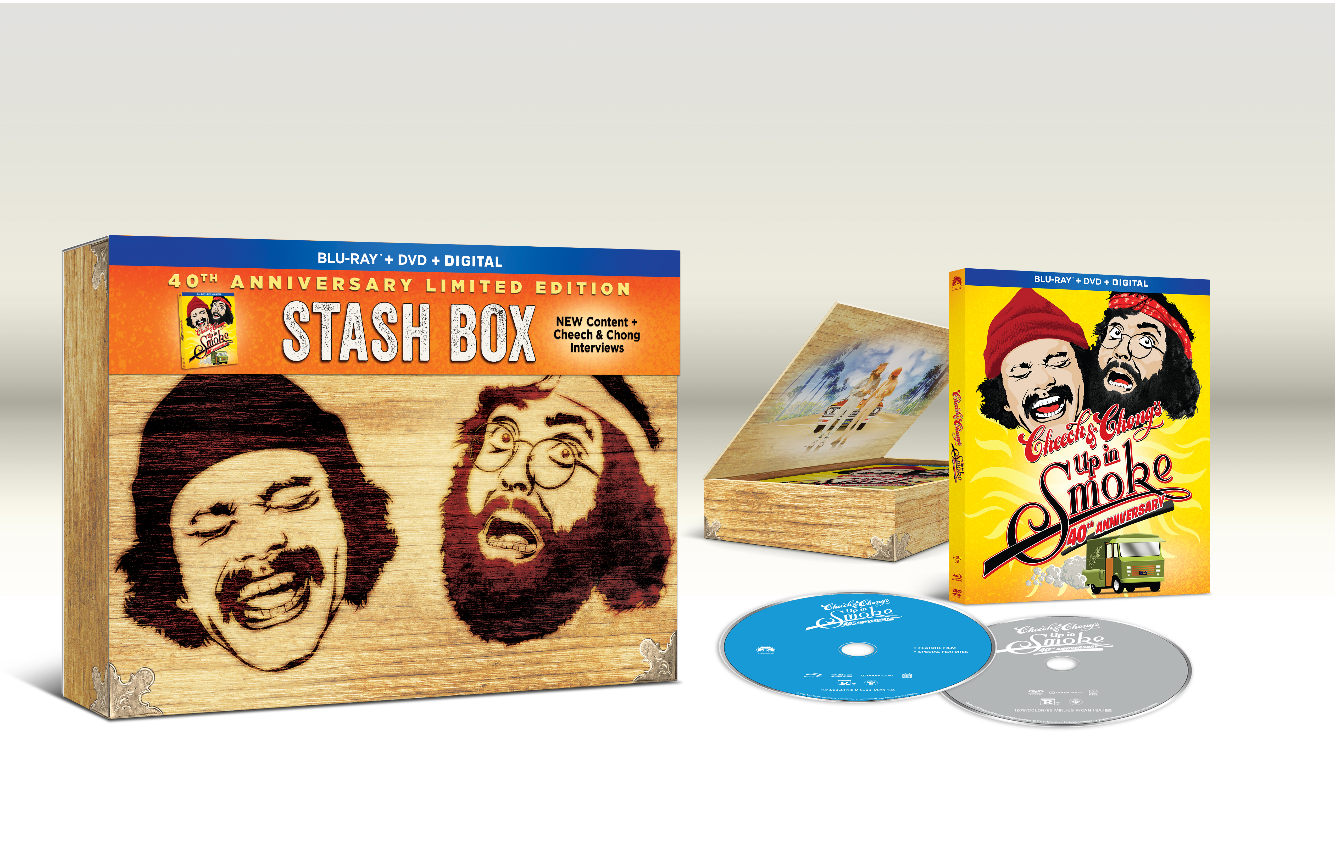 Cheech and Chong Up In Smoke 40th Anniversary Limited Edition Stash Box, Paramount Pictures - Cheech and Chong Stash Box