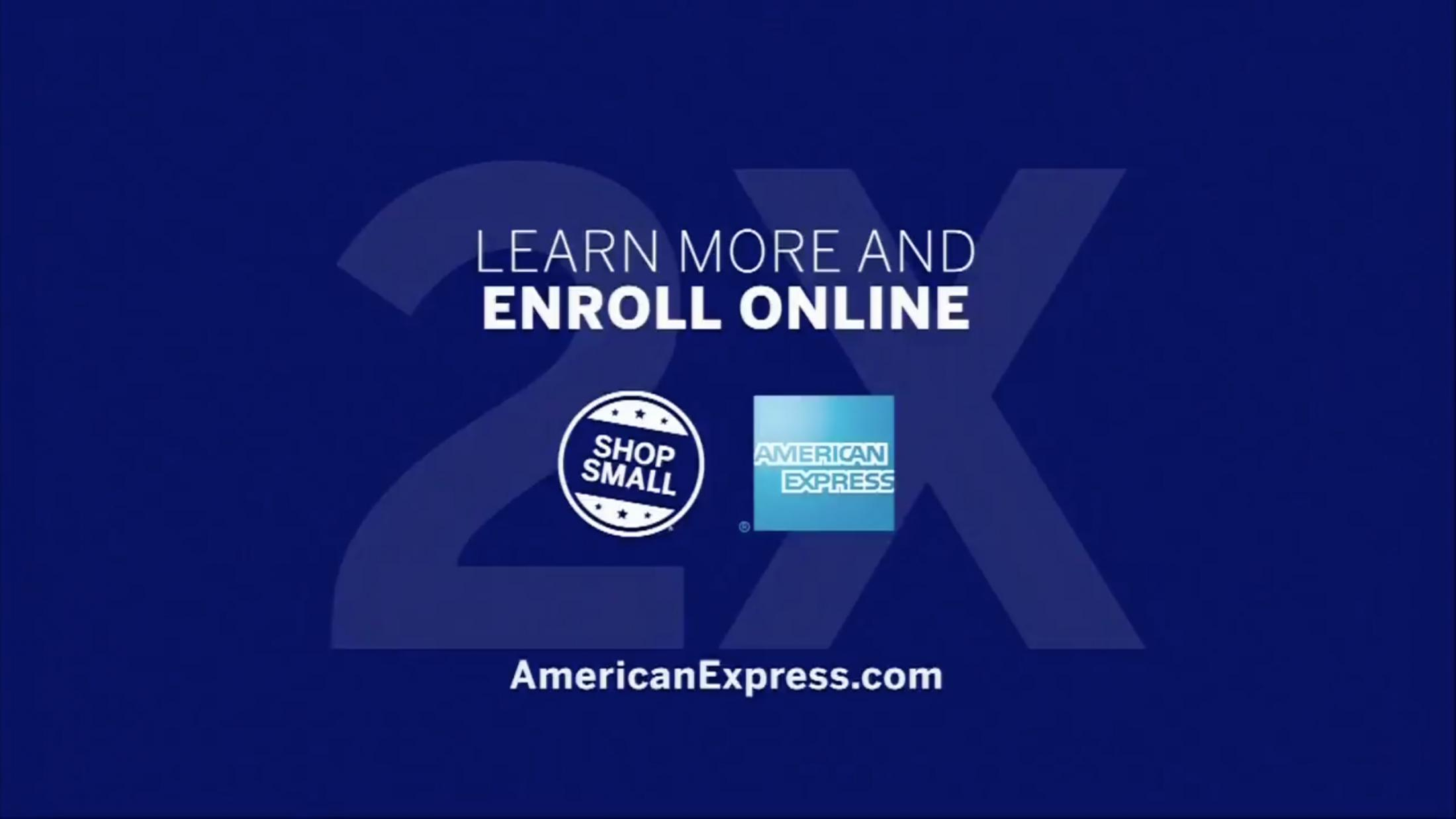 Image Media for American Express Shop Small for 2X Rewards