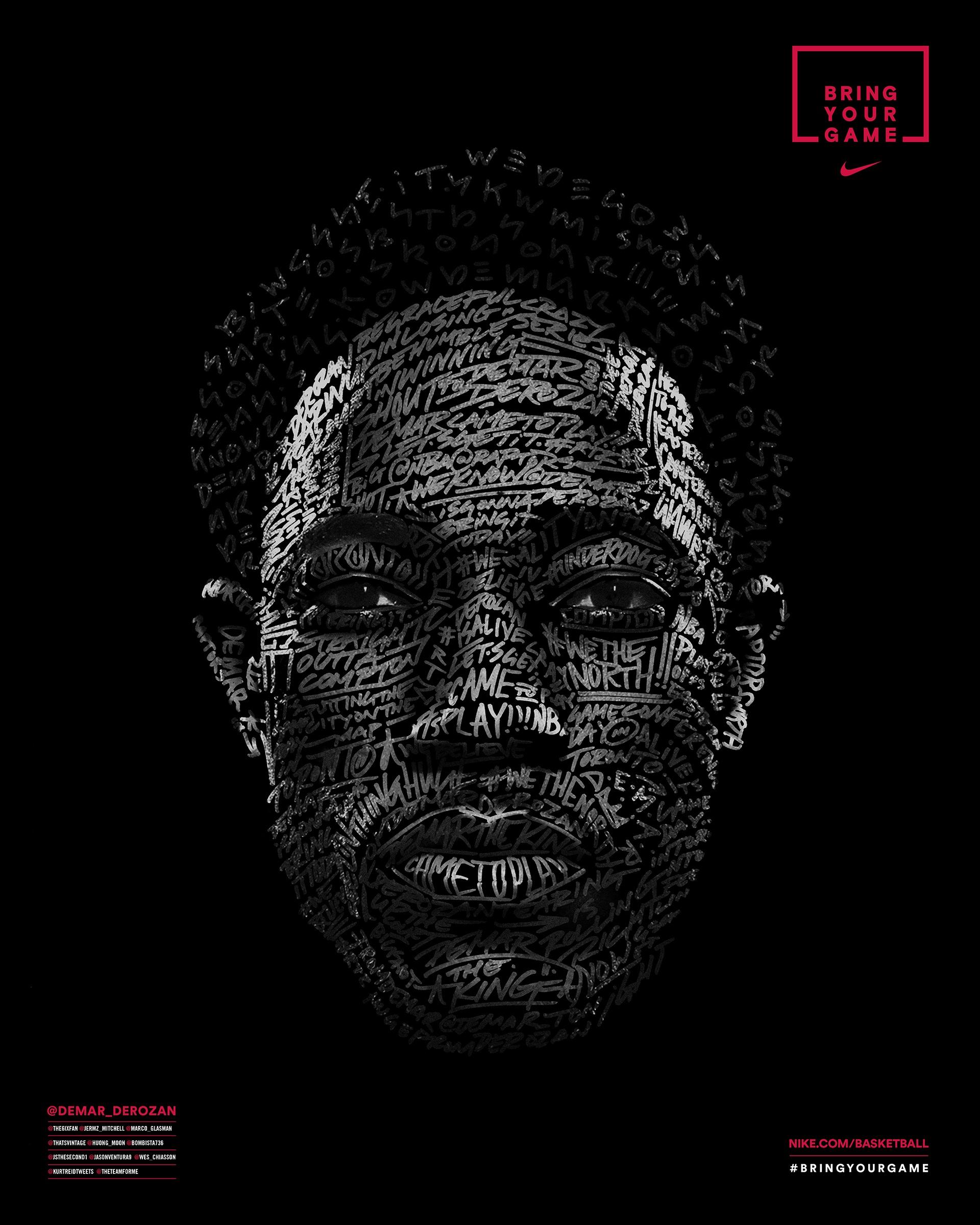 2eeb044152b389 Image Media for Nike Face of the Fans - DeMar DeRozan