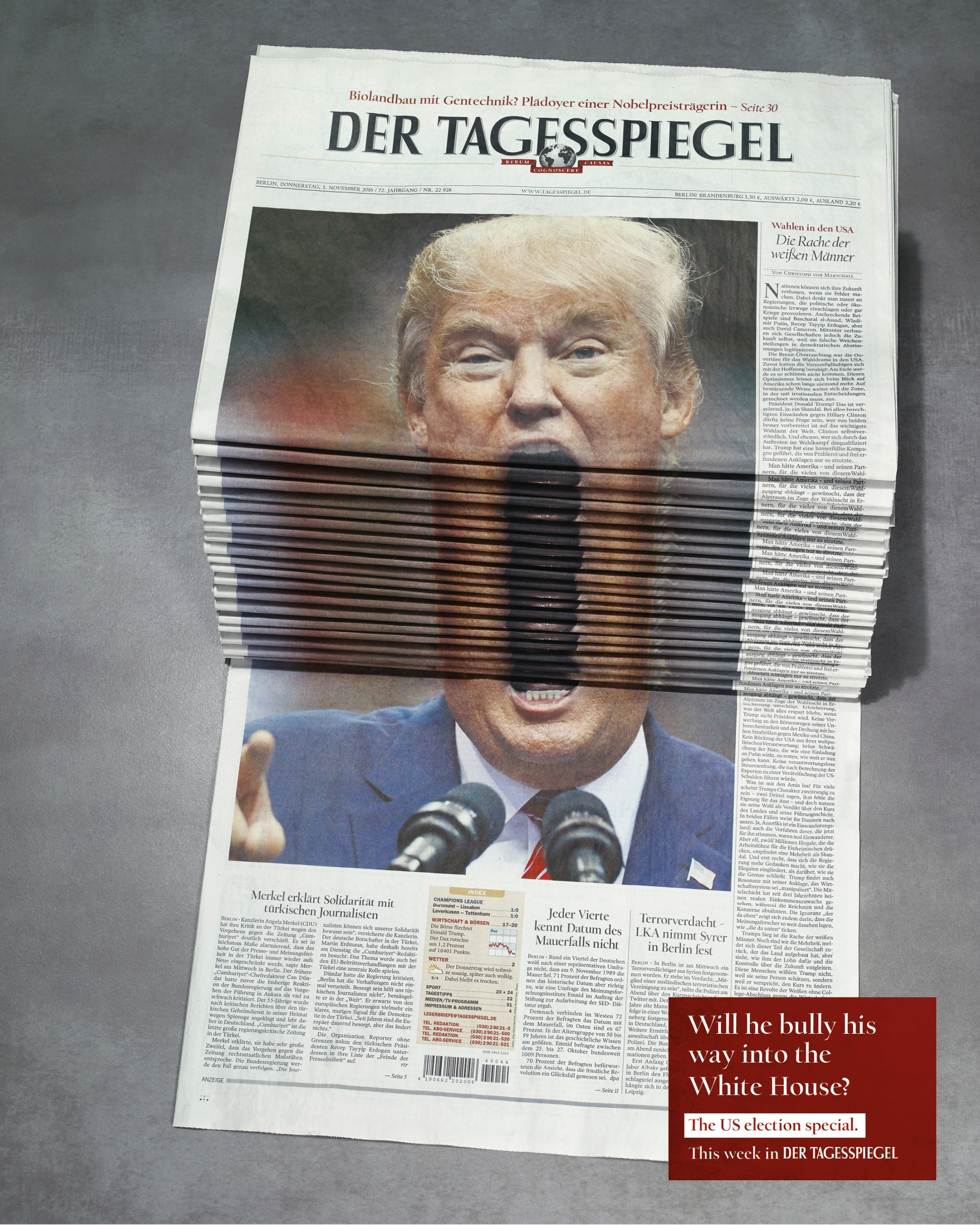 Thumbnail for Newspaper Stack - Trump