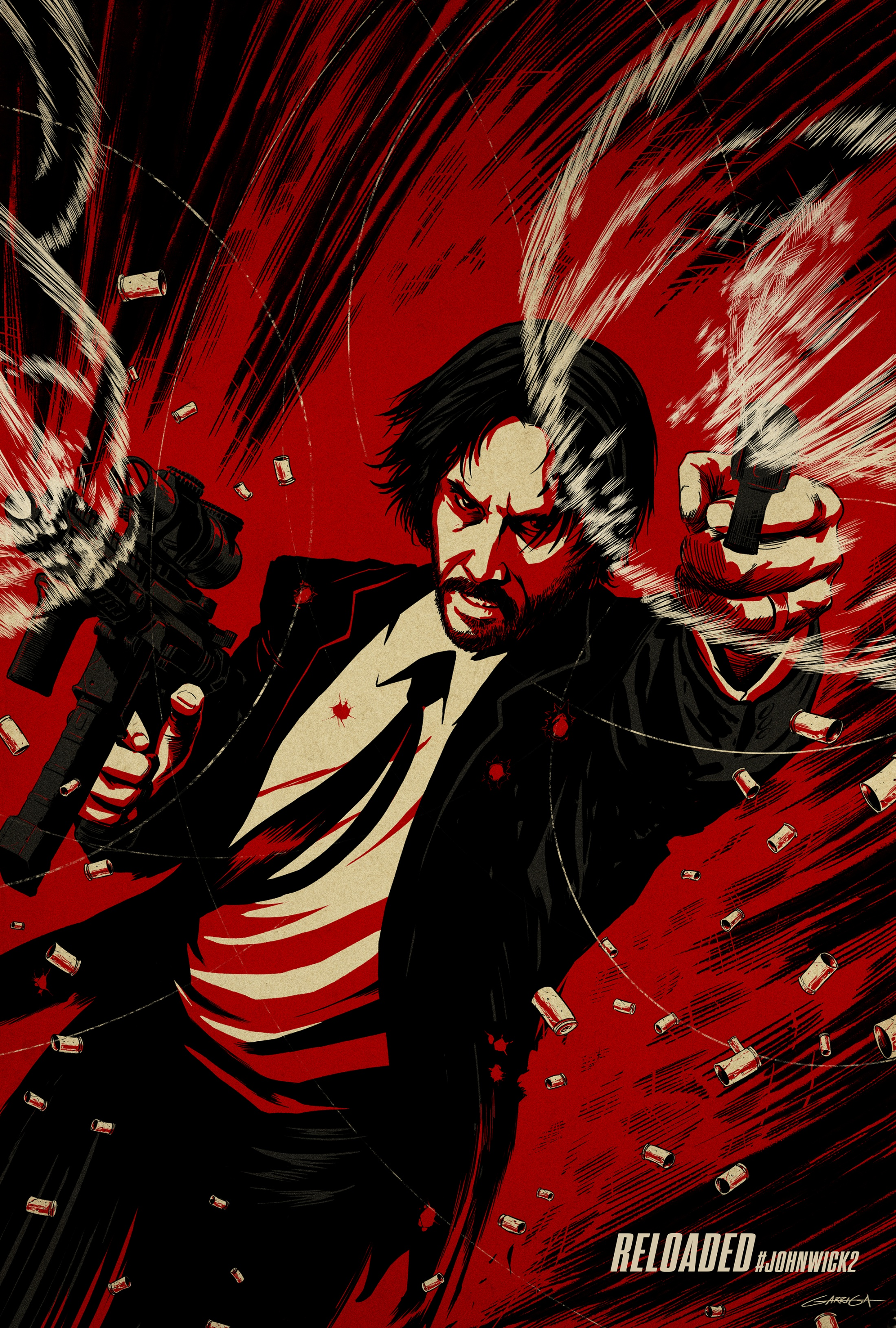 John Wick 2 - Illustrated One-Sheet Campaign - BG | Clios