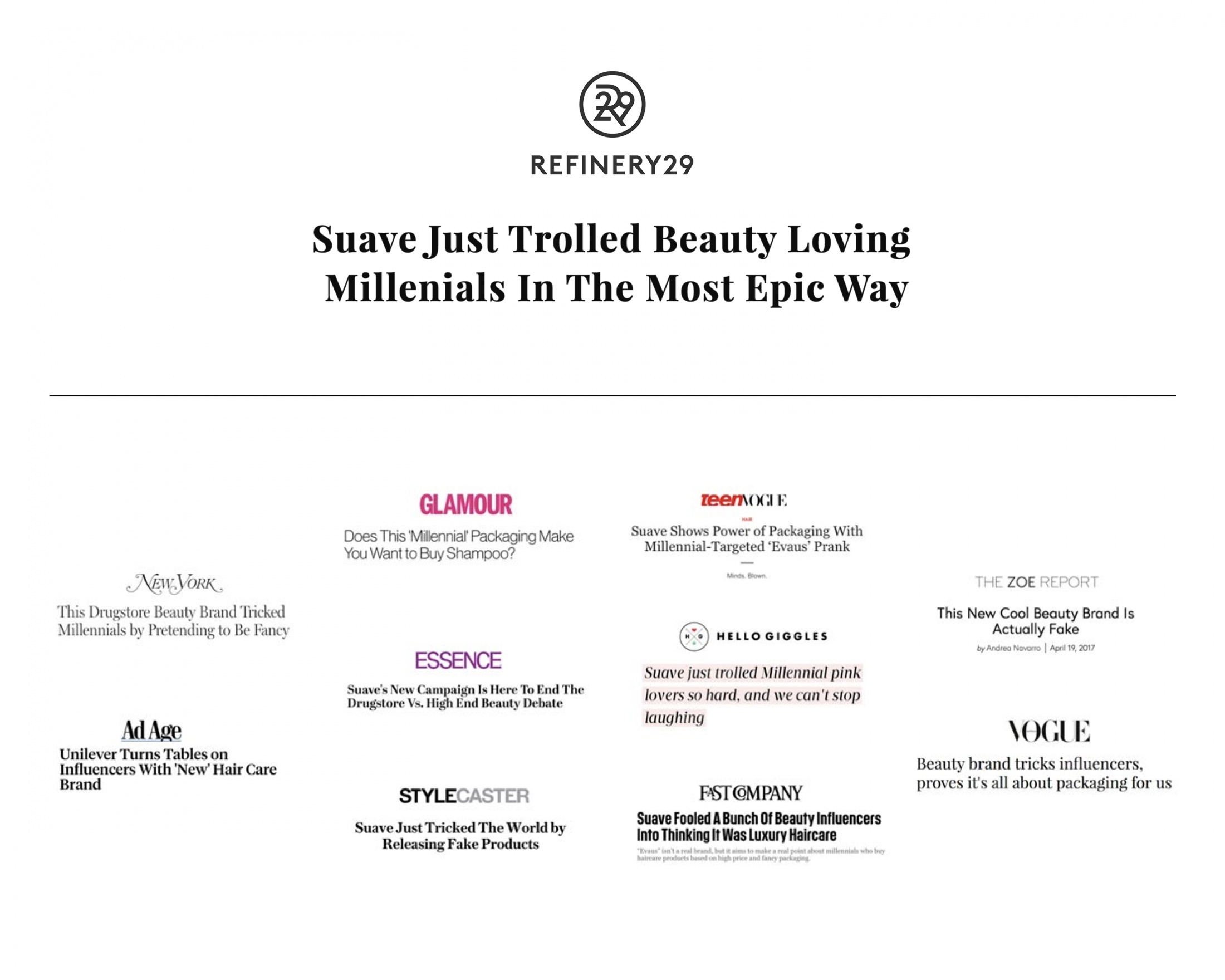 Image Media for The Evaus Project: Trolling The Beauty Industry To Change Brand Perception