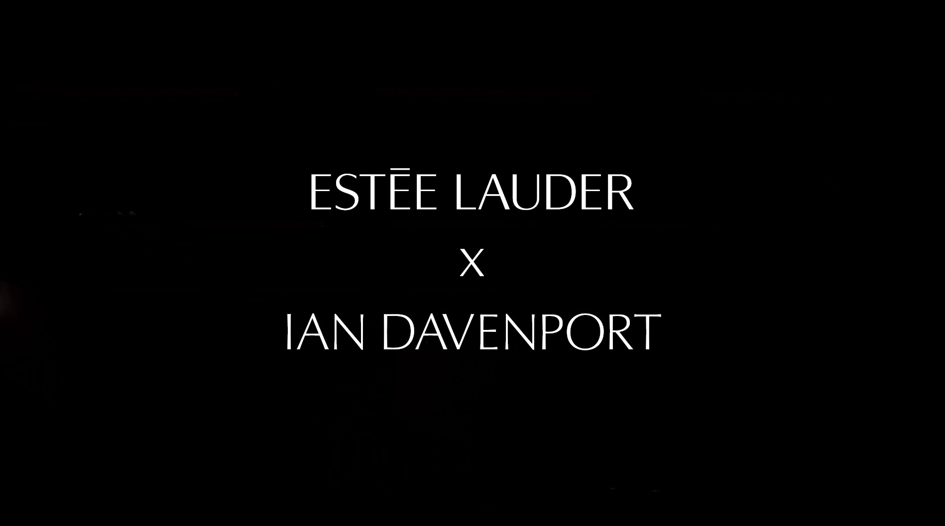 Image Media for Estee Lauder X Ian Davenport