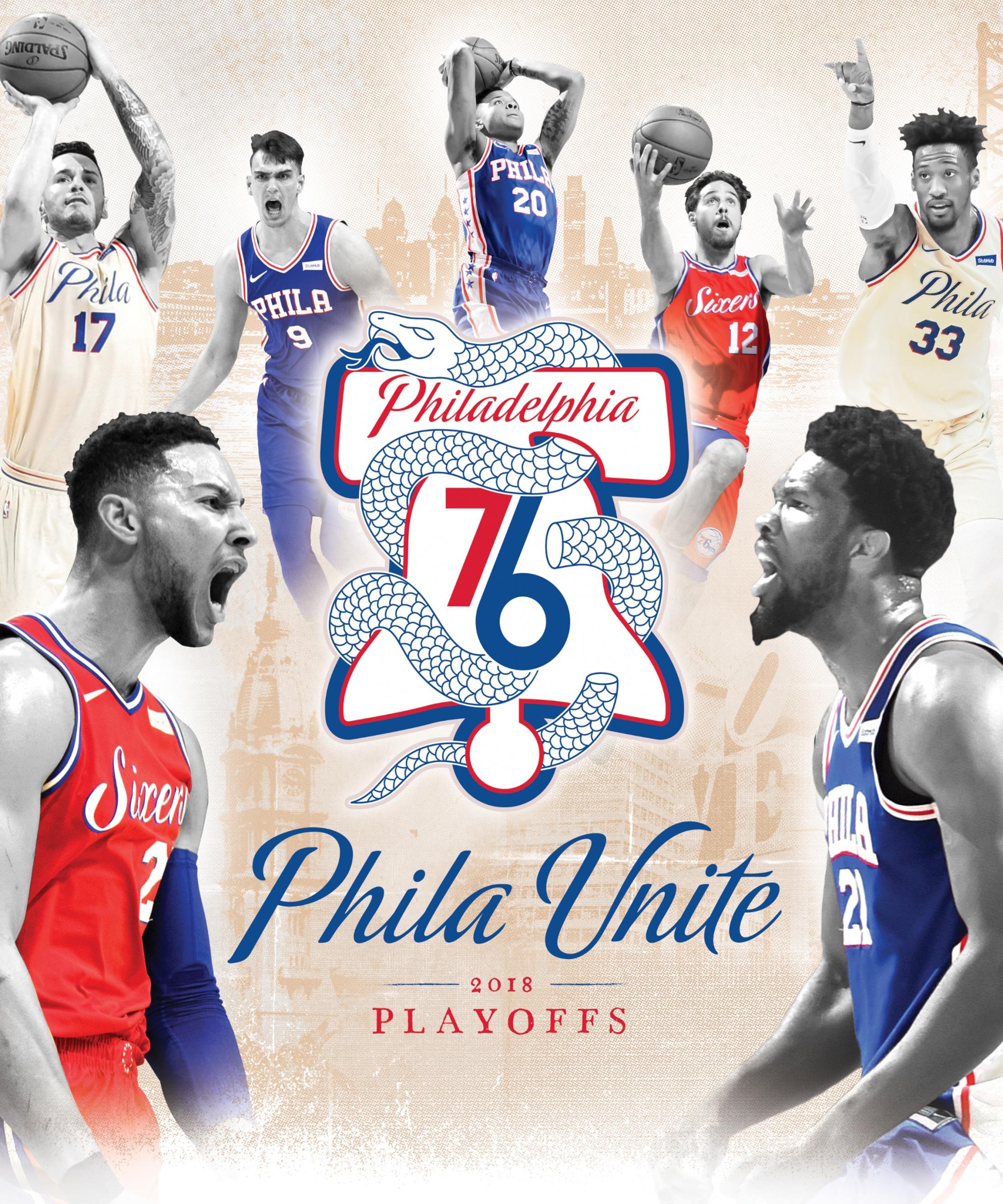 Thumbnail for Philadelphia 76ers - Phila Unite - 2018 Playoff Design