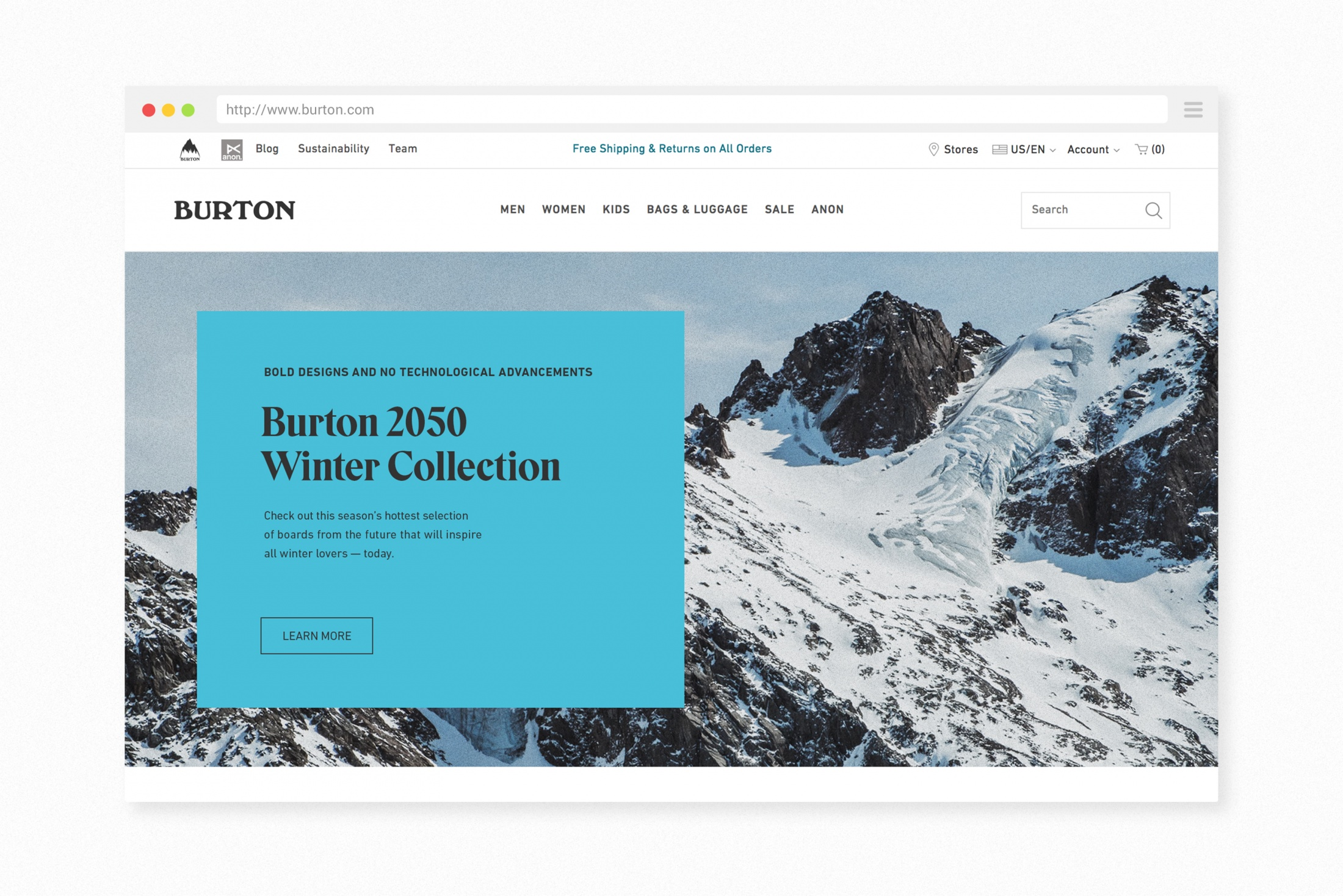 Thumbnail for Burton 2050 Winter Collection