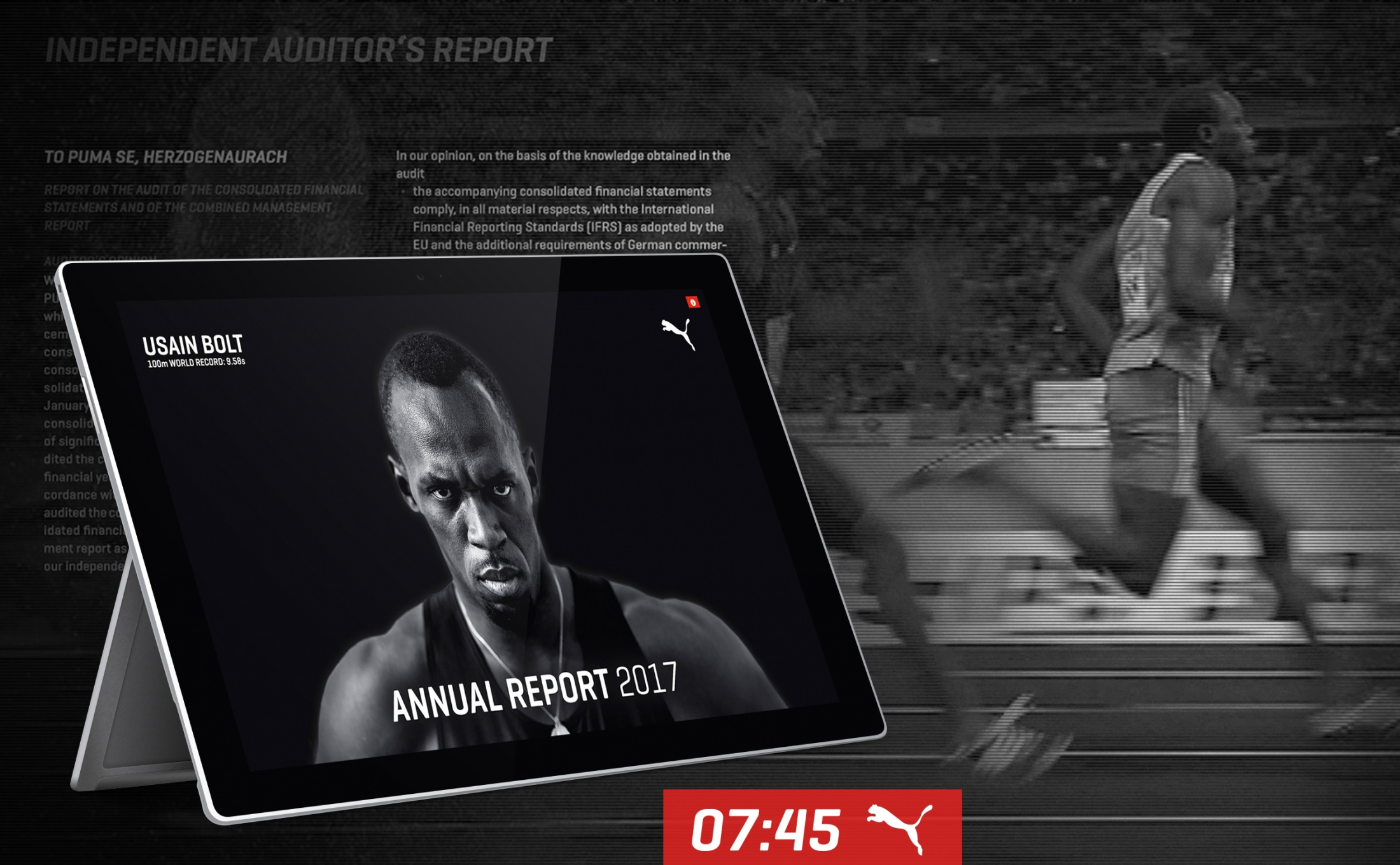 Thumbnail for 9.58 Seconds - The World's Fastest Annual Report
