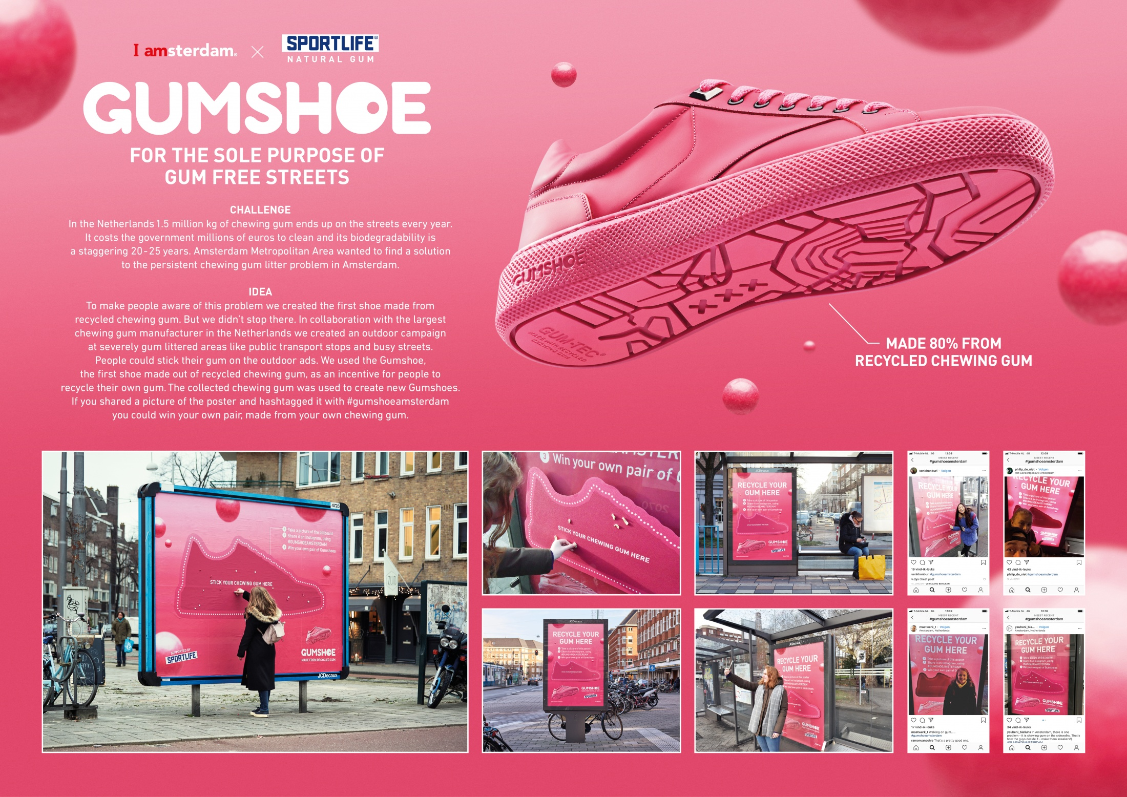 Thumbnail for The first shoe made from recycled chewing gum
