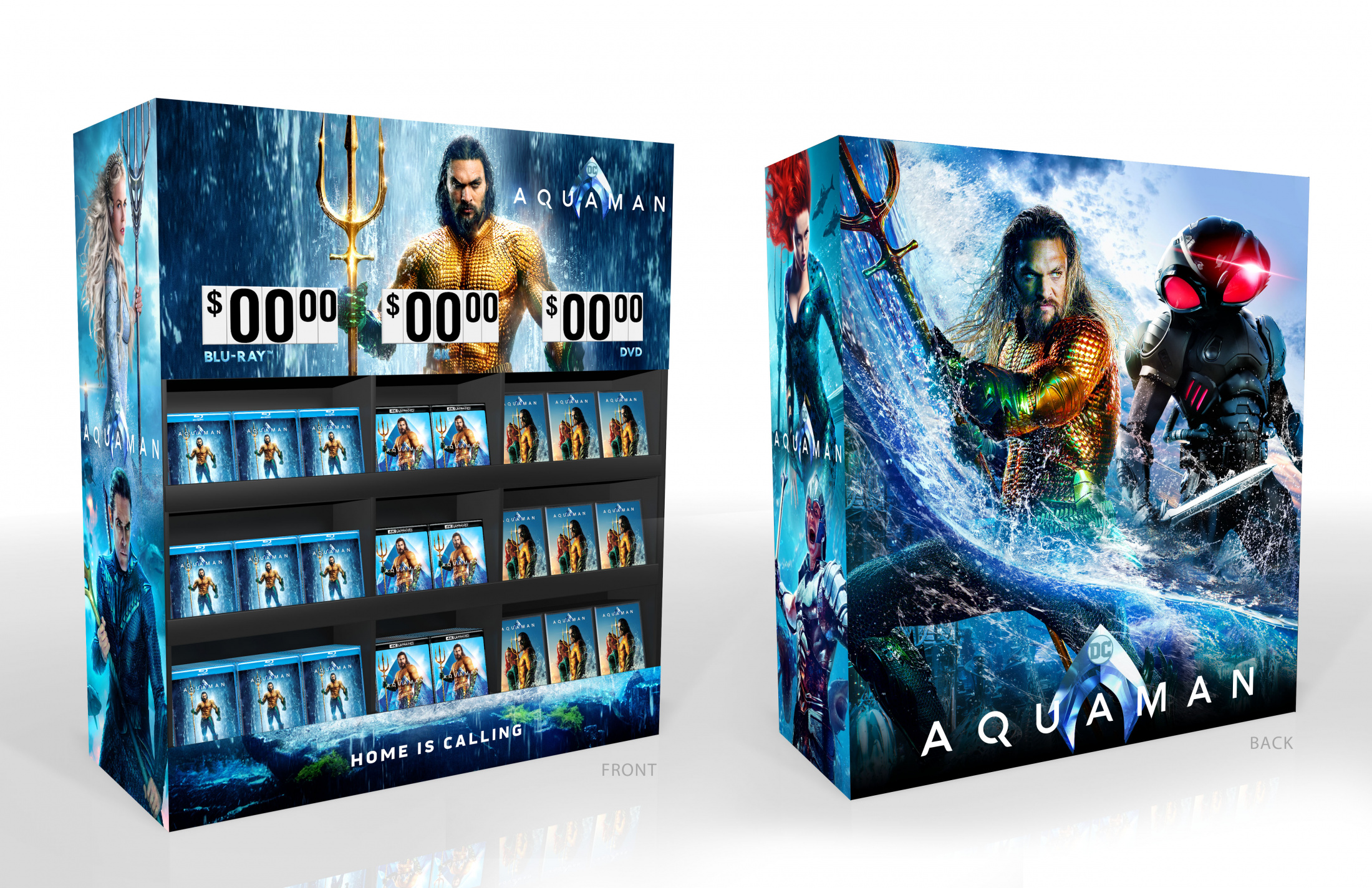 Image Media for Aquaman Home Entertainment Walmart Display Home Video Cube