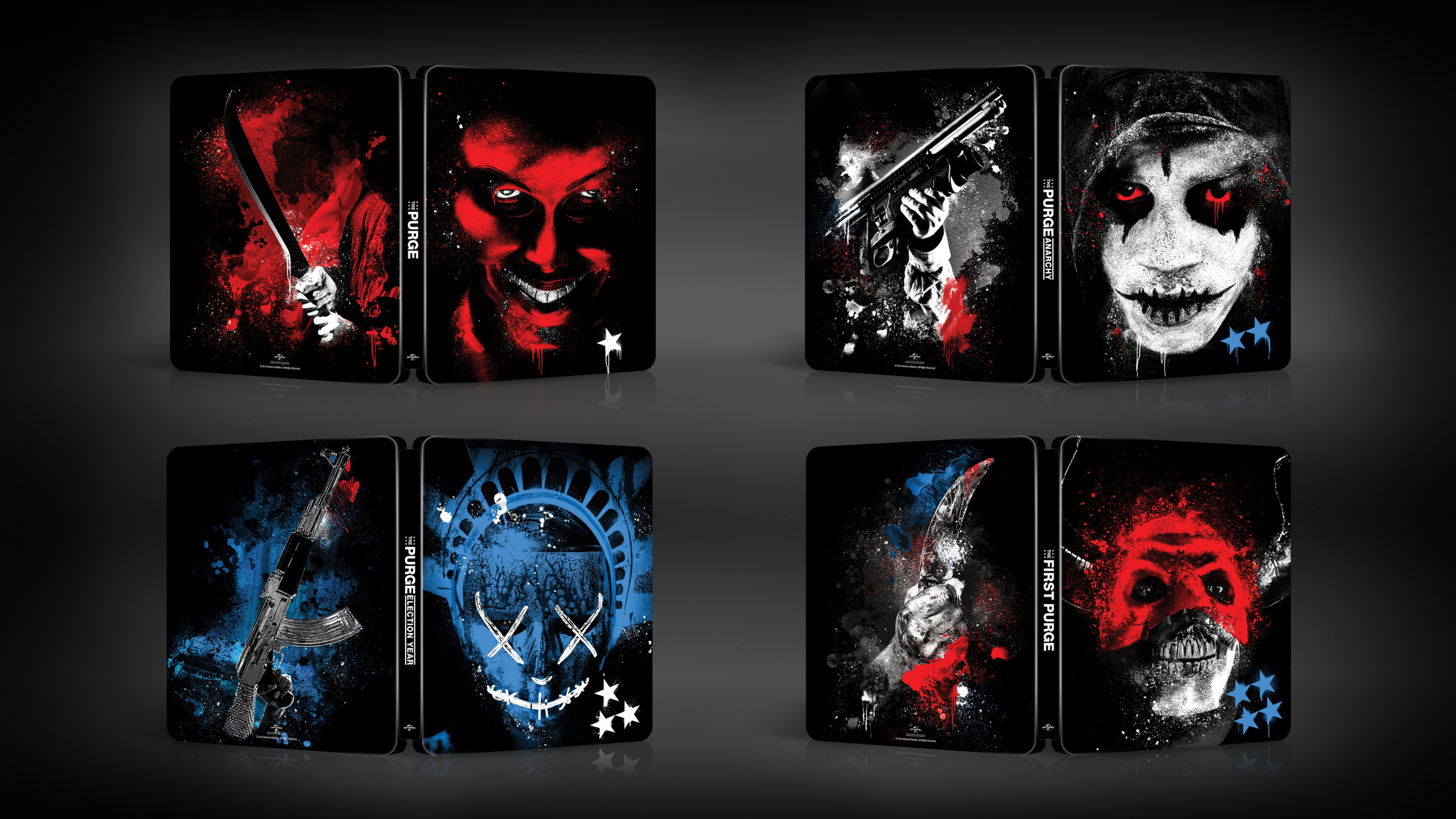 Thumbnail for The Purge Franchise Steelbooks