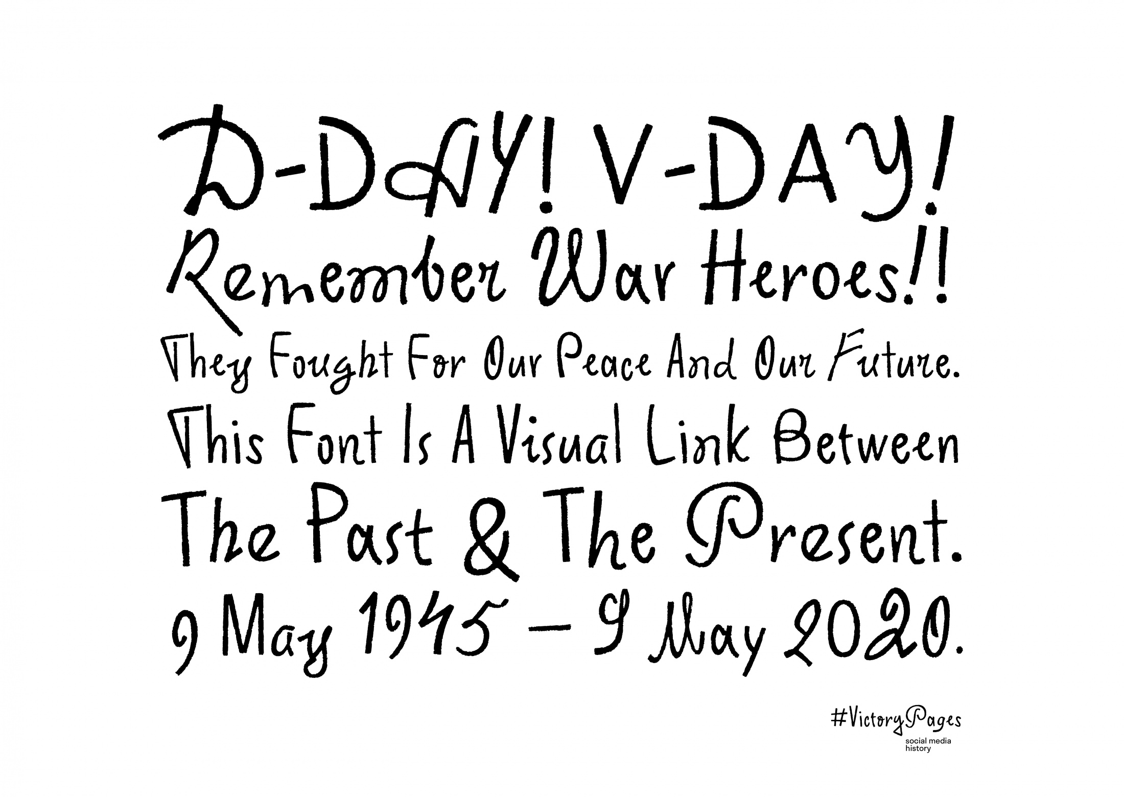 Thumbnail for #VictoryFont: A Typeface To Remember
