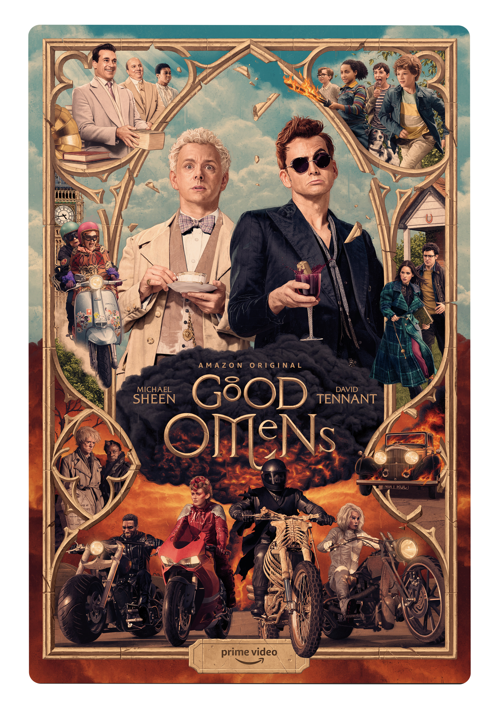 Thumbnail for Good Omens SXSW Illustrated Poster