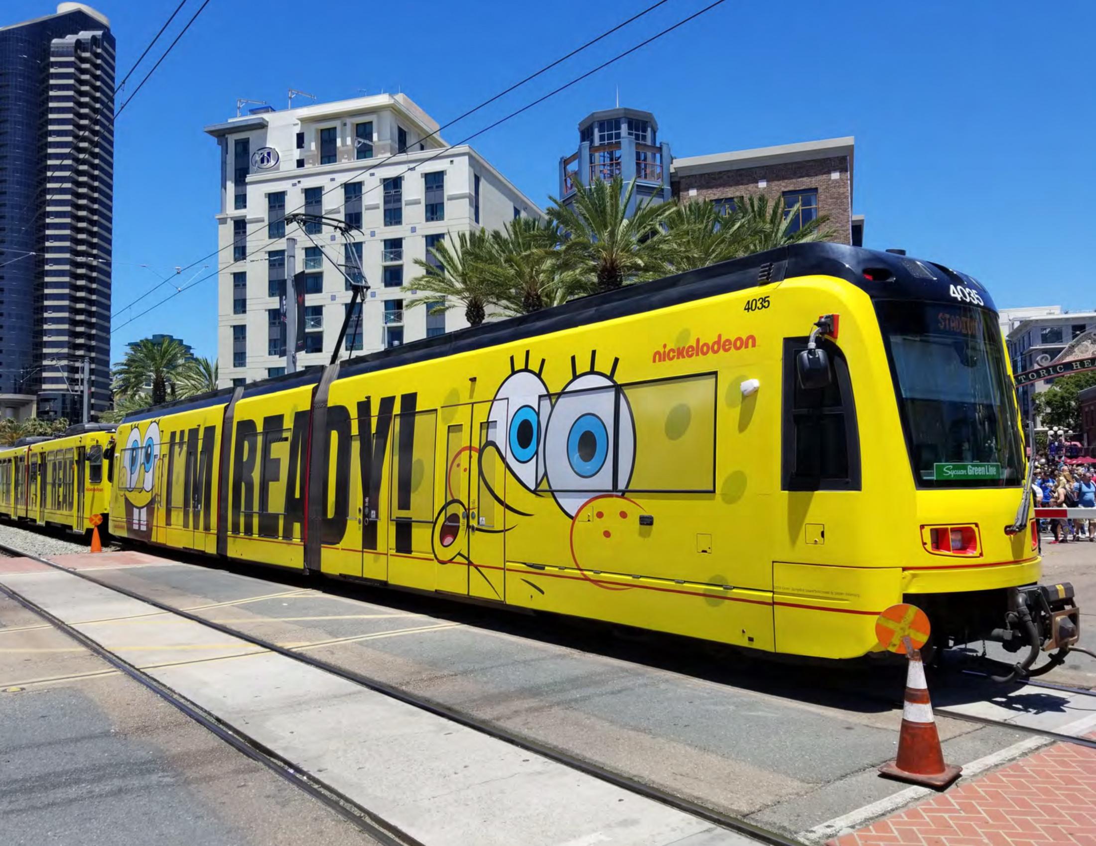 Thumbnail for #HappyBirthdaySpongeBob Transit Wrap - Trolley