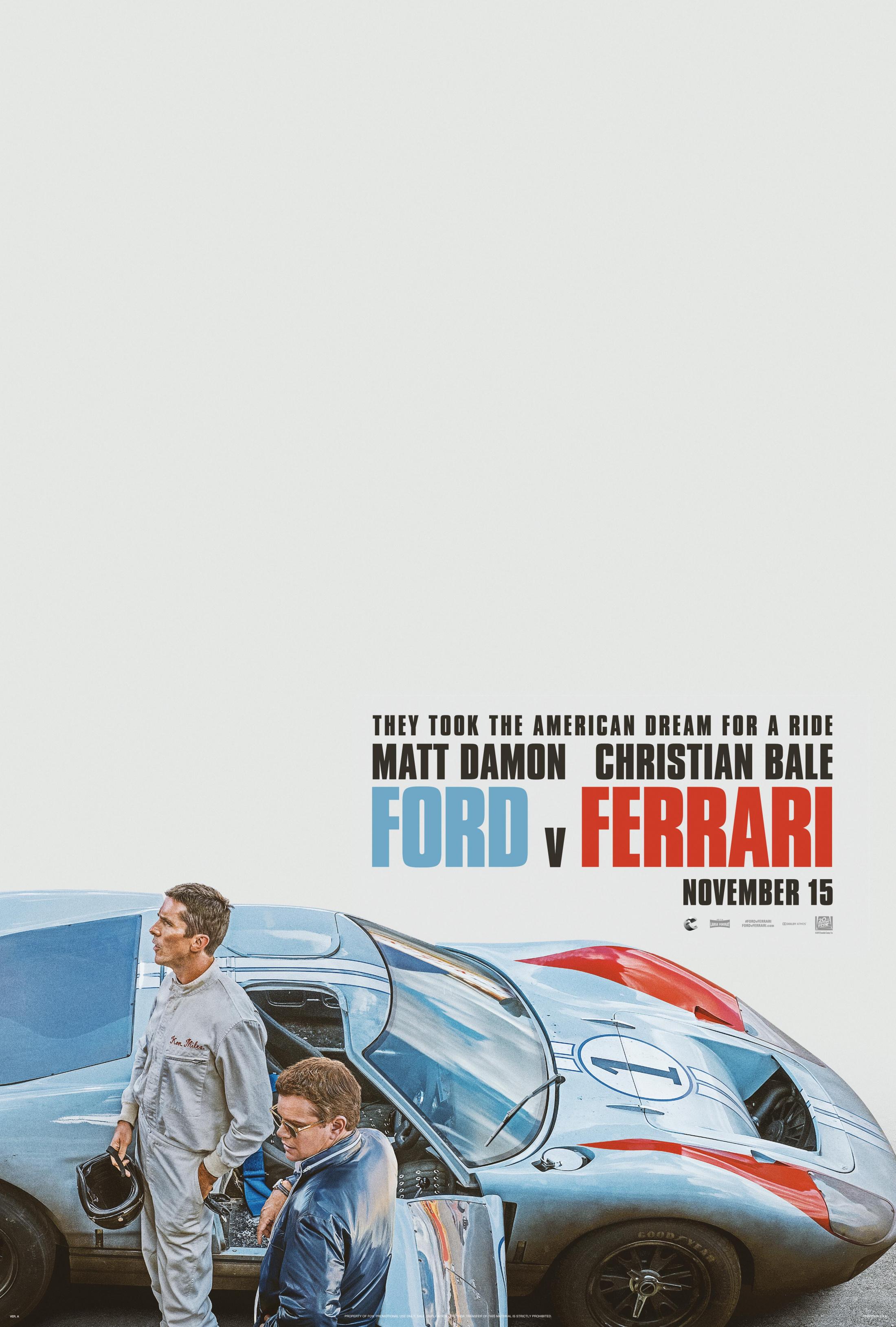 Thumbnail for FORD V FERRARI Teaser One-Sheet