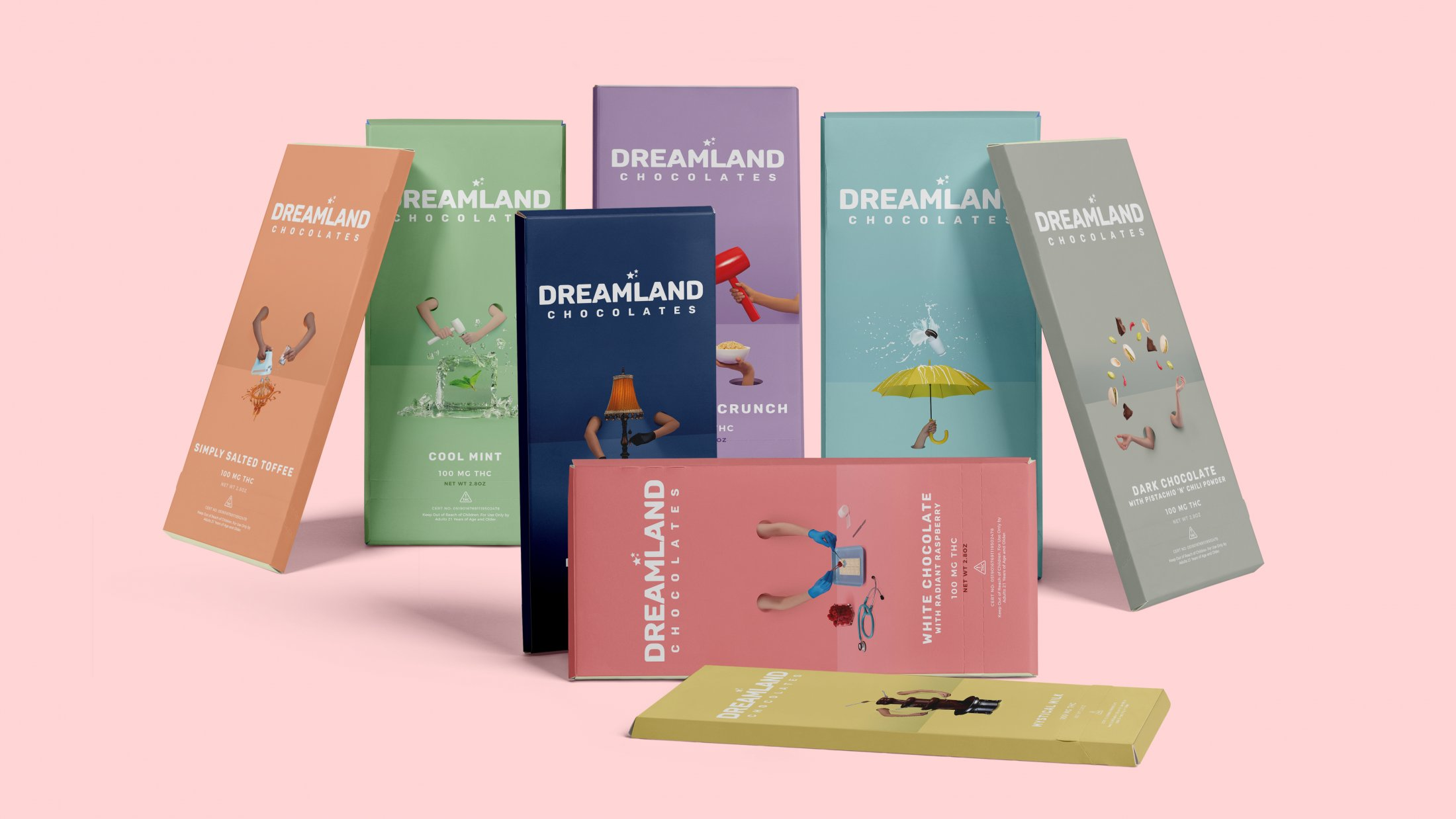 Dreamland Chocolates: Real People. Real Props. Surreal Packaging.