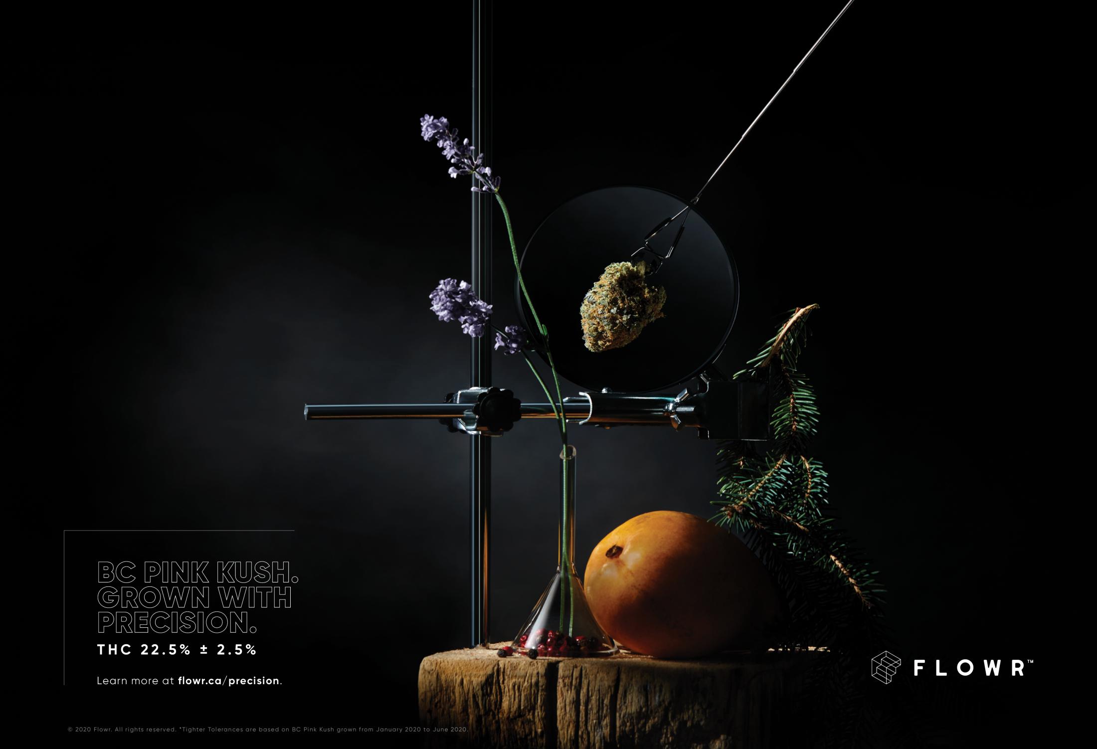 The Flowr Corporation: Art & Science | Flowr BC Pink Kush
