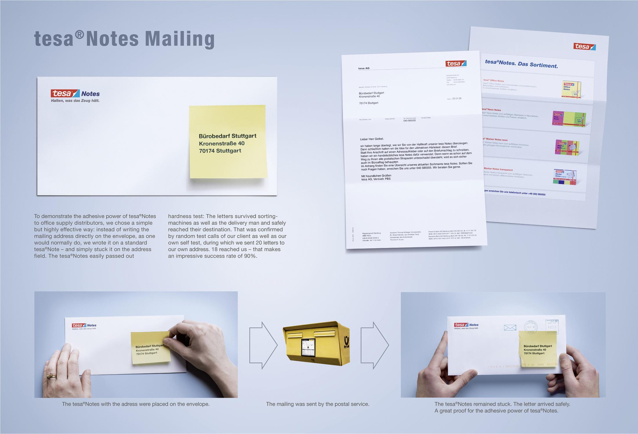 Tesa Notes Mailing Adhesive Power Clios