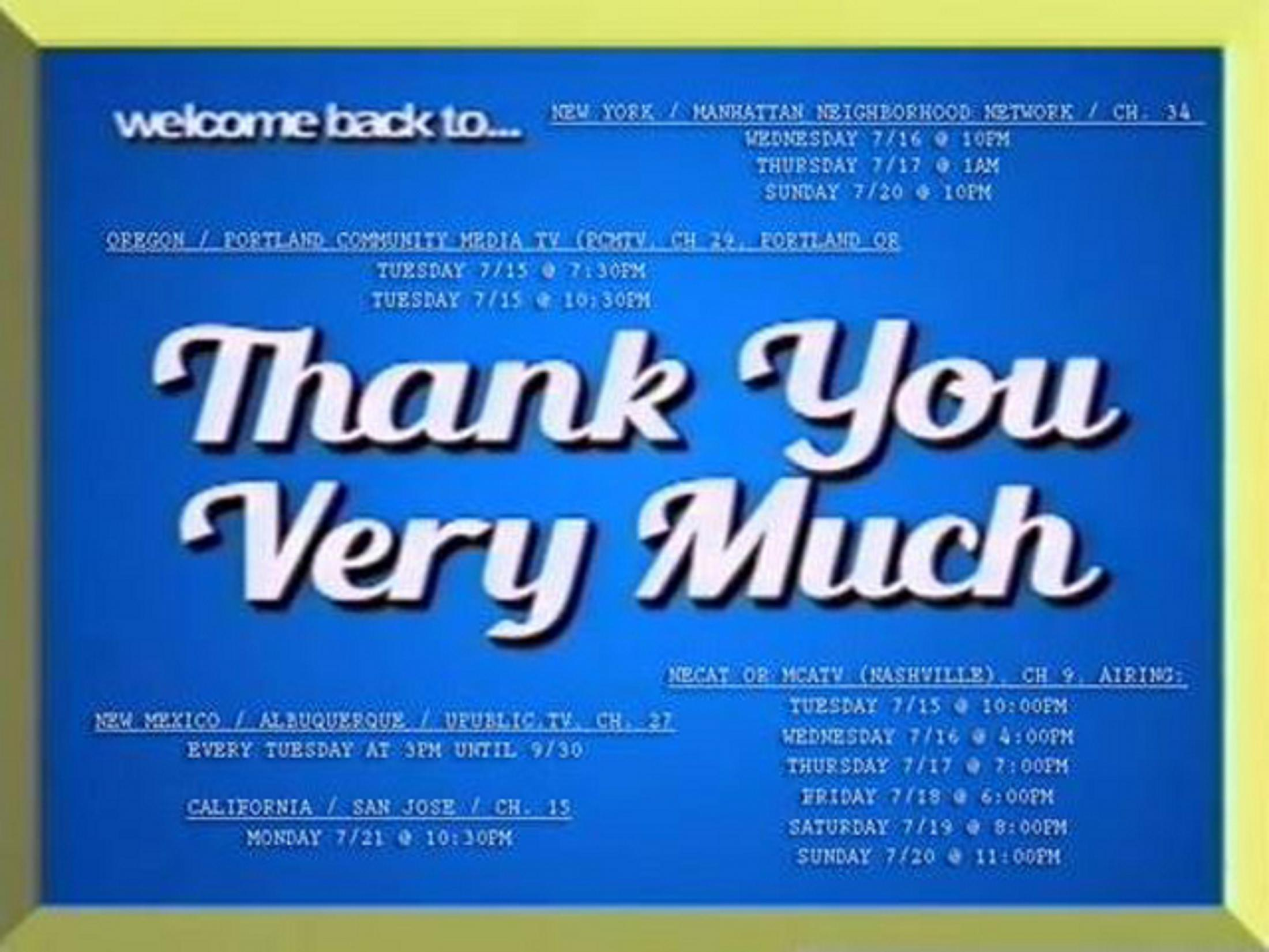Thumbnail for Thank You Very Much