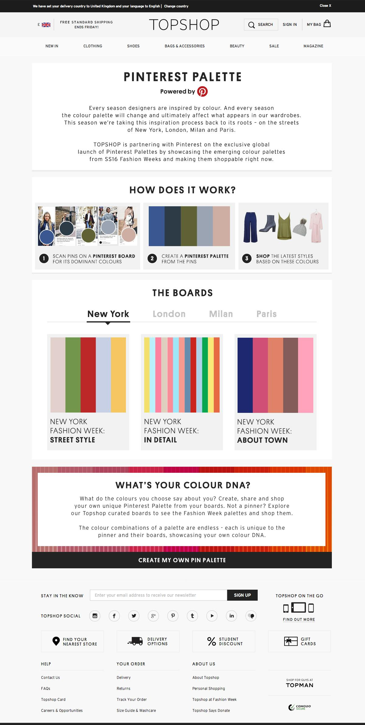 Thumbnail for Topshop in Partnership with Pinterest Palettes