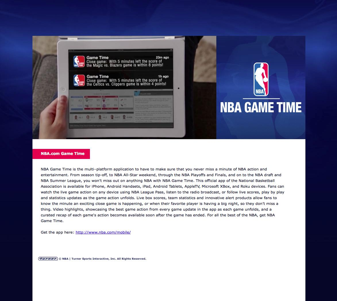 Image Media for NBA Game Time