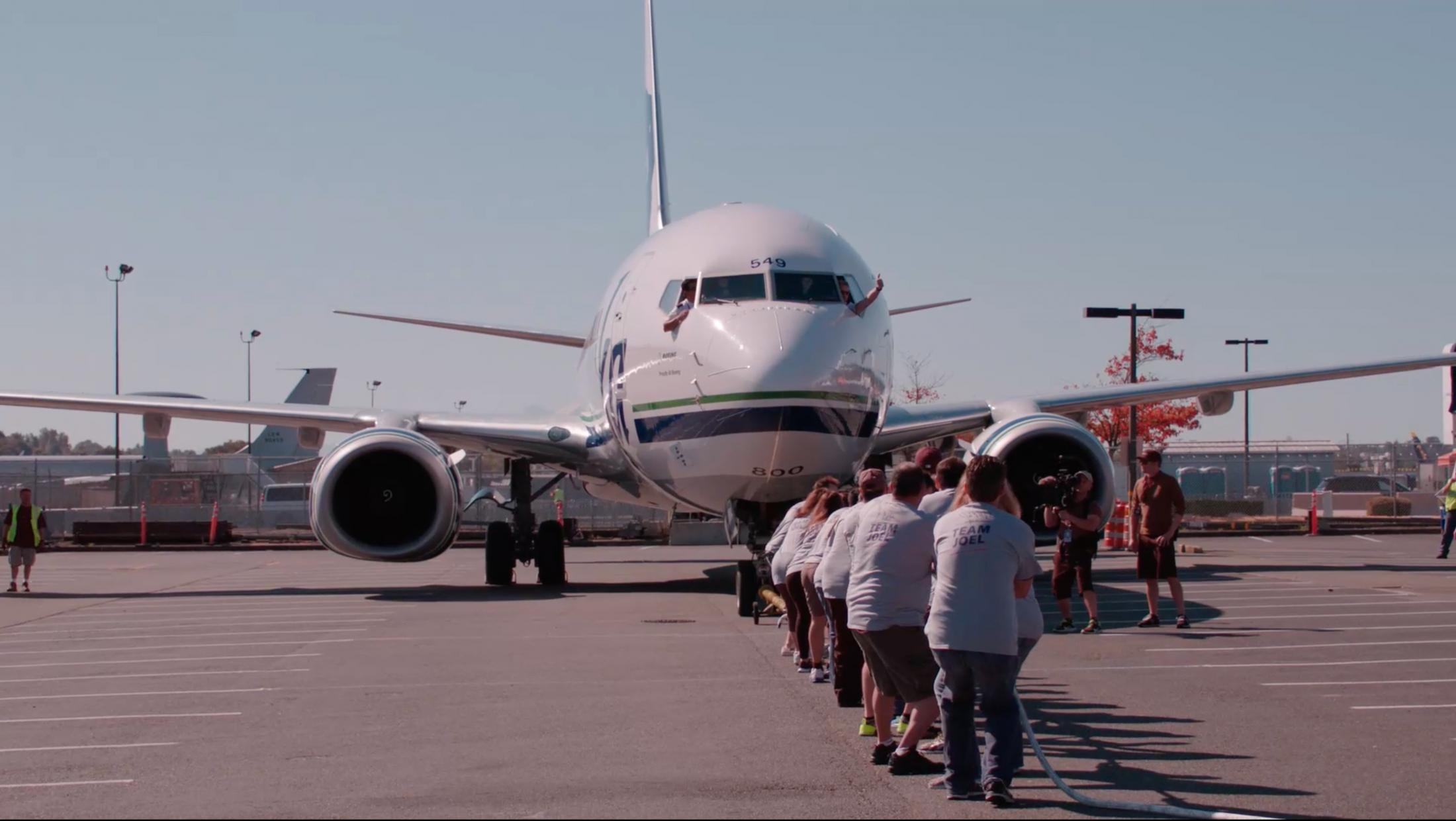 Thumbnail for Alaska Airlines & Russell Wilson Strong Against Cancer Plane Pull