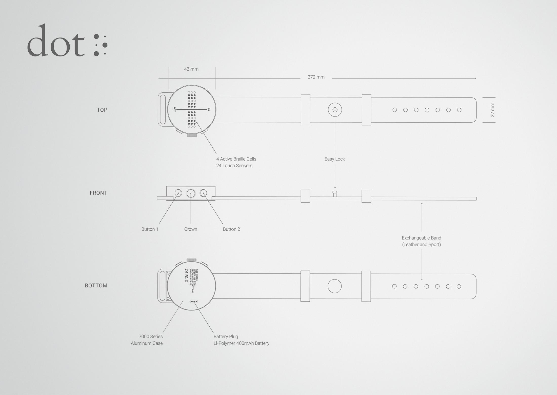 Thumbnail for DOT. The first Braille Smartwatch.