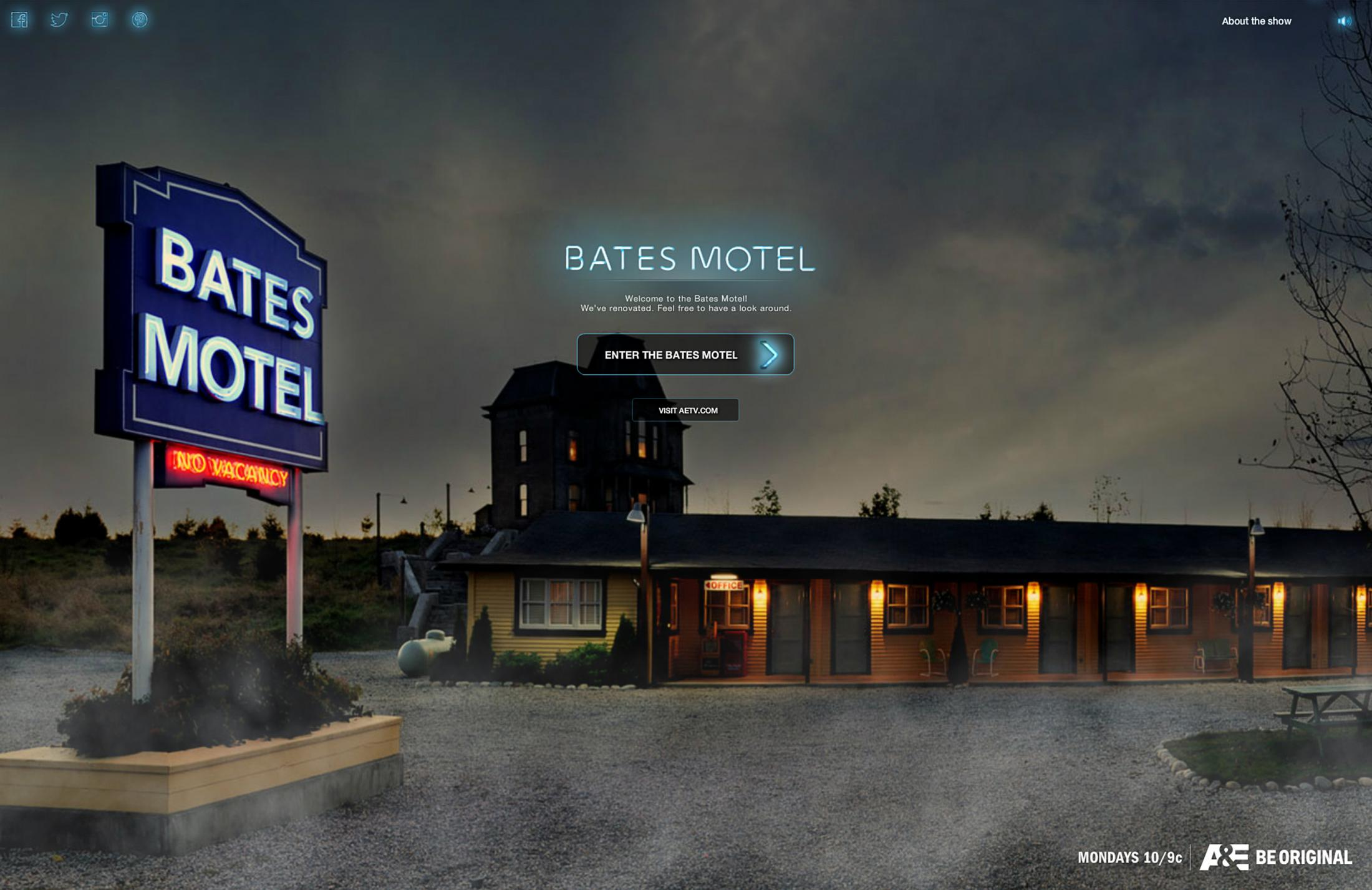 Thumbnail for Bates Motel Season 2 Website