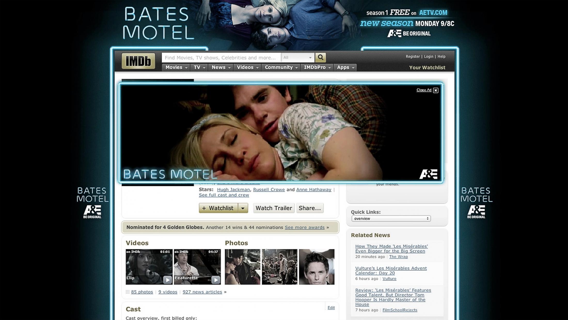 Thumbnail for Bates Motel Season 2 IMDB