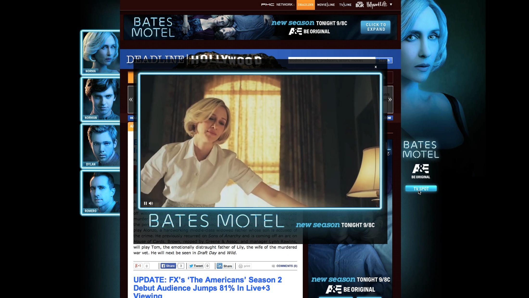 Thumbnail for Bates Motel Season 2 Deadline