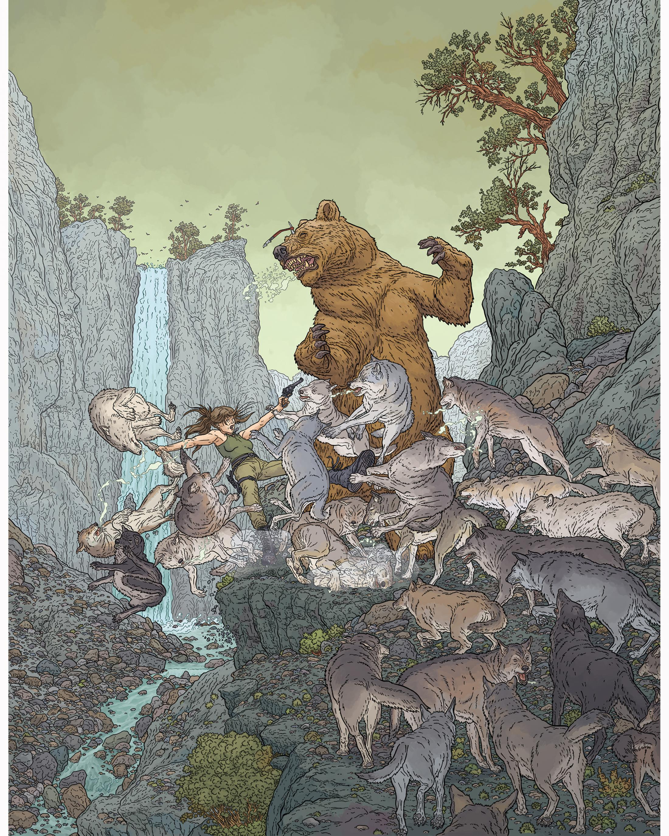 Thumbnail for Woman VS. Wild by Geof Darrow