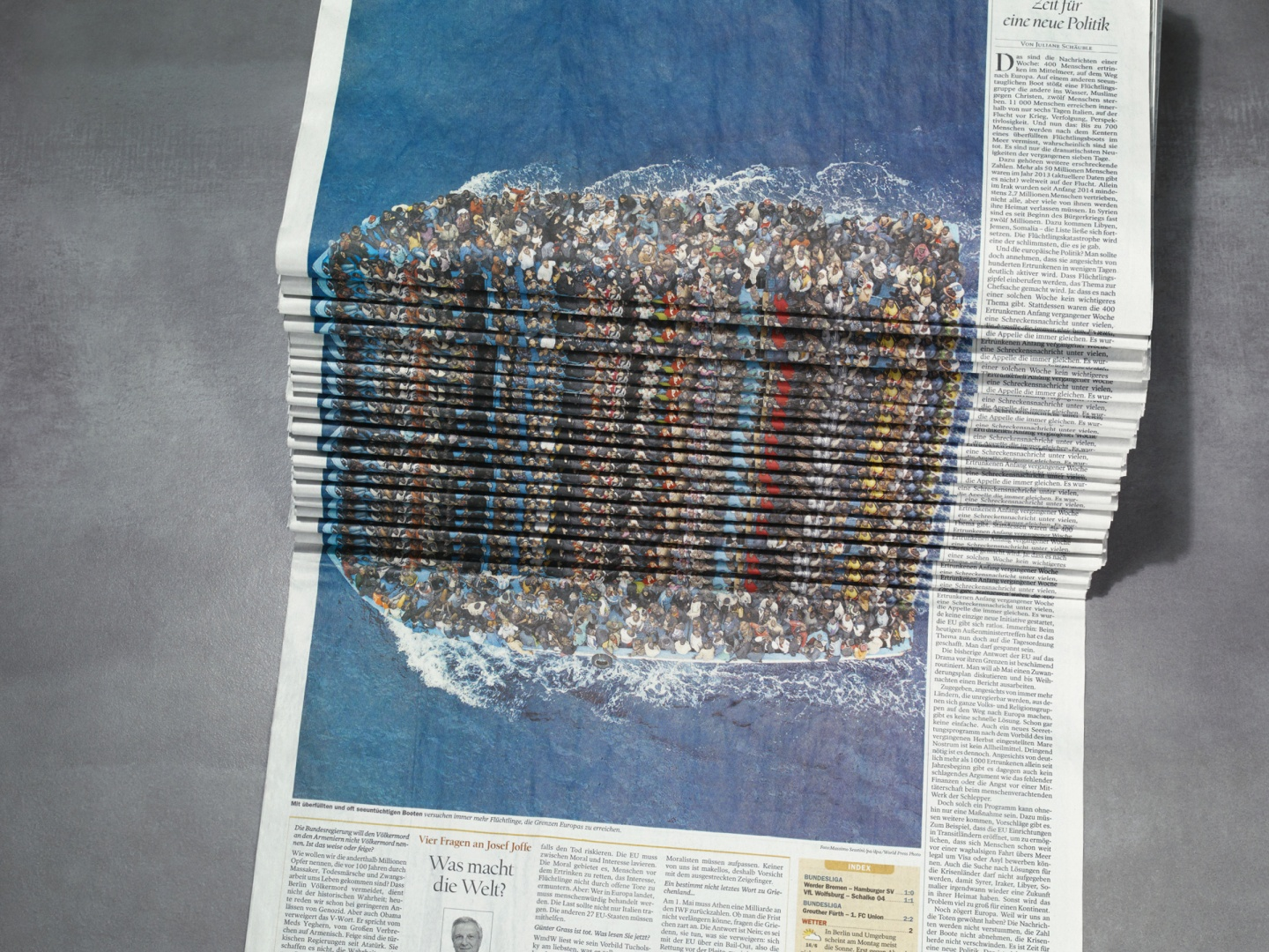 Newspaper Stack - Refugees Thumbnail