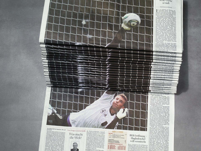 Image for Newspaper Stack - Soccer