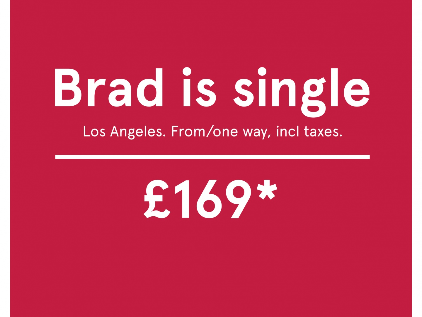 Brad is single Thumbnail