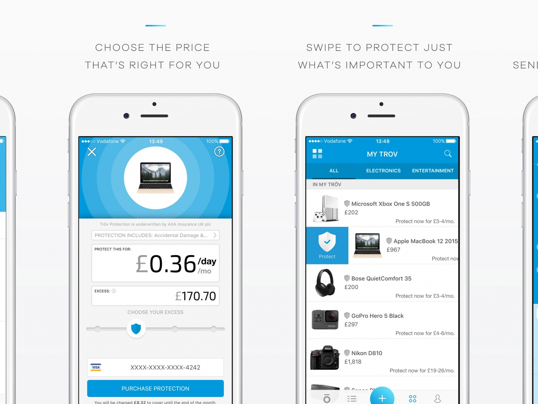 Trōv Mobile Application Thumbnail