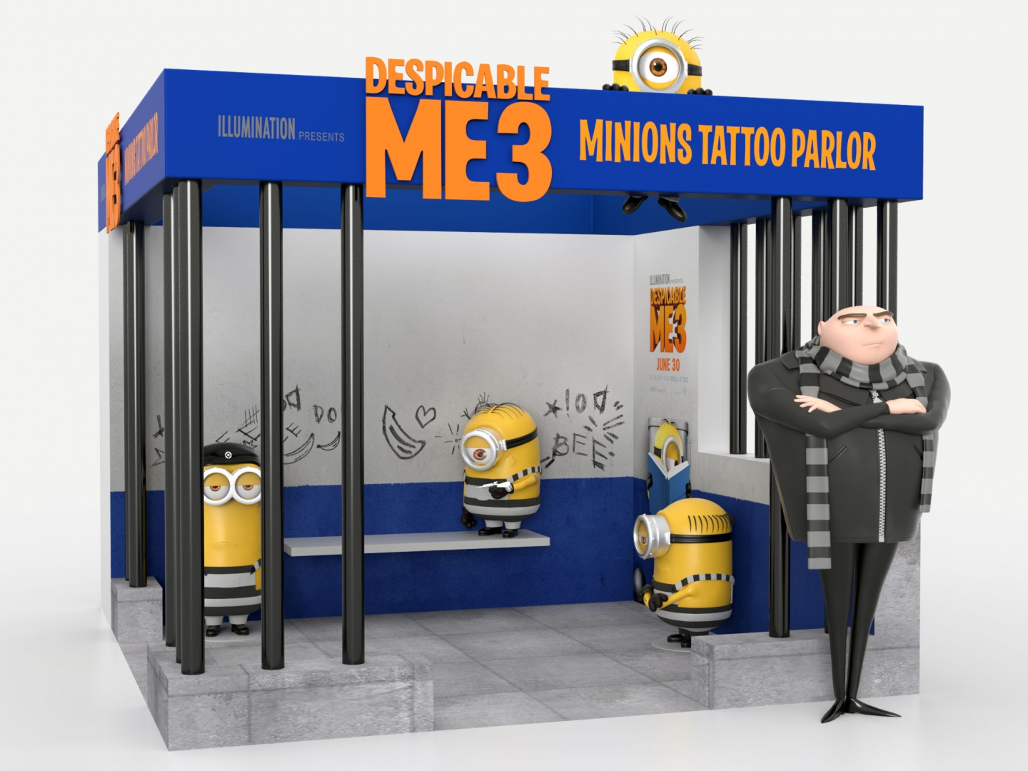 Despicable Me 3 Tattoo Parlor Theatrical Display: Specialty Thumbnail