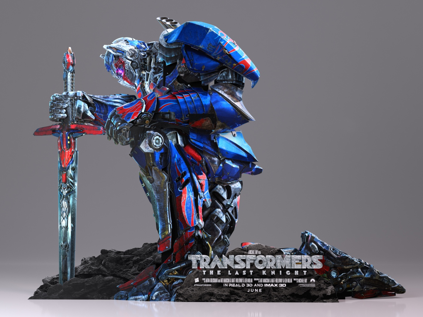 Transformers: The Last Knight Kneeling Theatrical Display Thumbnail
