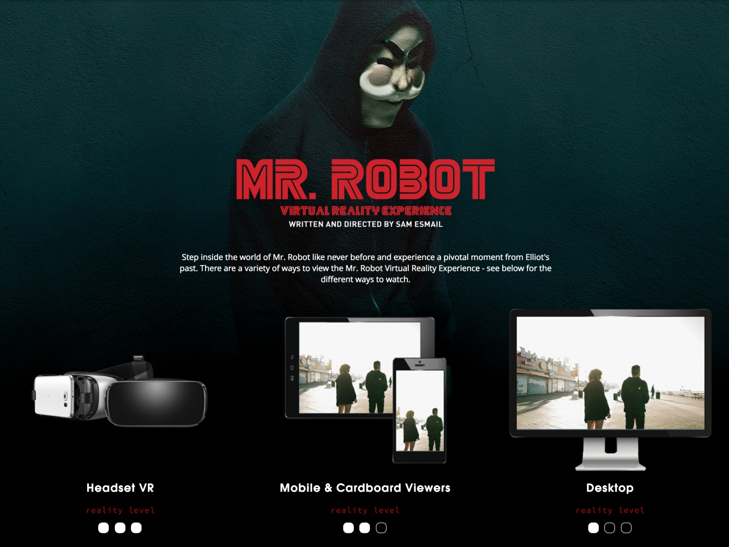The Mr. Robot Virtual Reality Experience Thumbnail