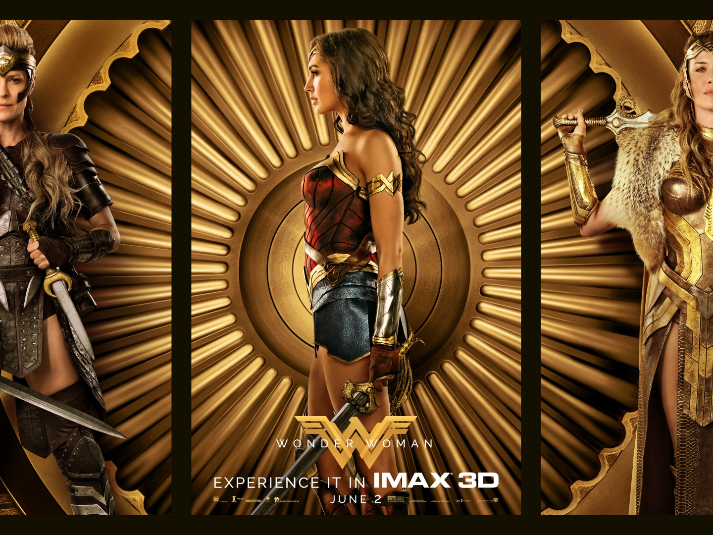 Wonder Woman Triptych One-Sheet Thumbnail