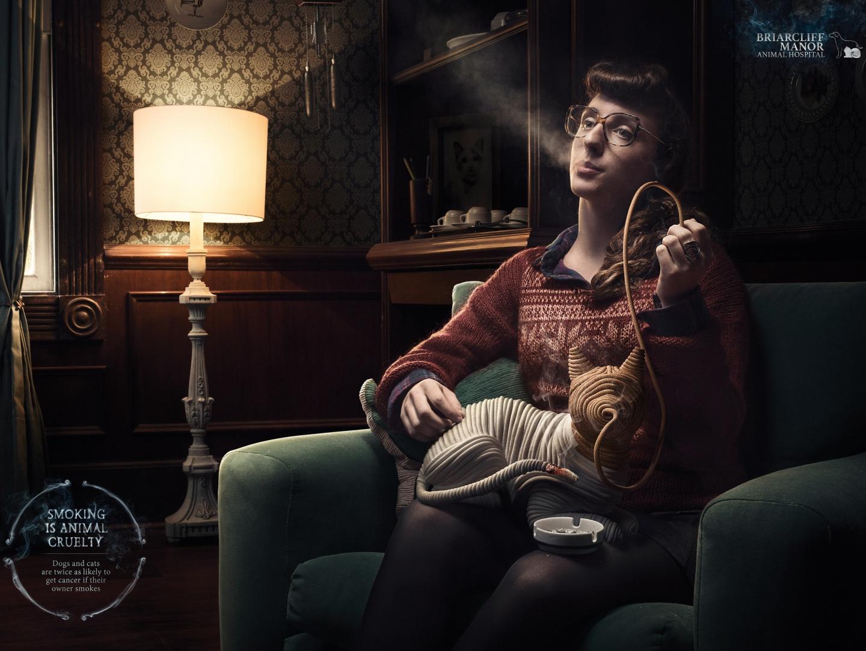 Smoking is Animal Cruelty: Cat  Thumbnail